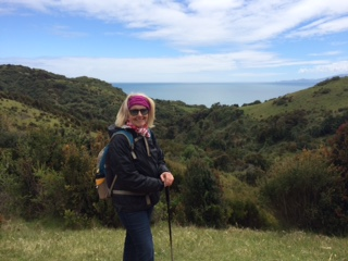 Janet on the hike