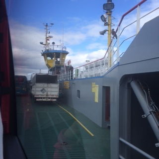 The ferry to the island