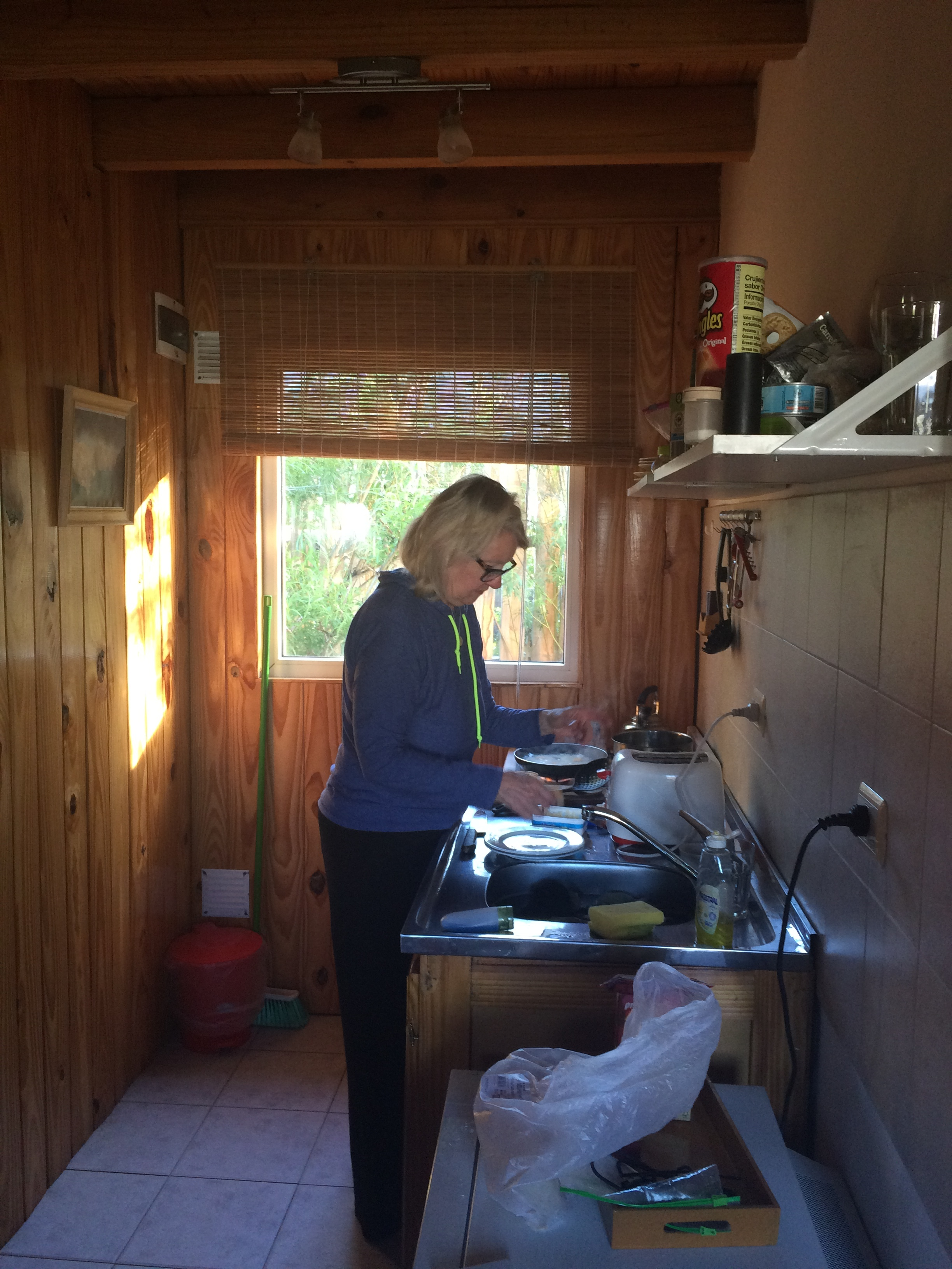 Cooking at our cabana