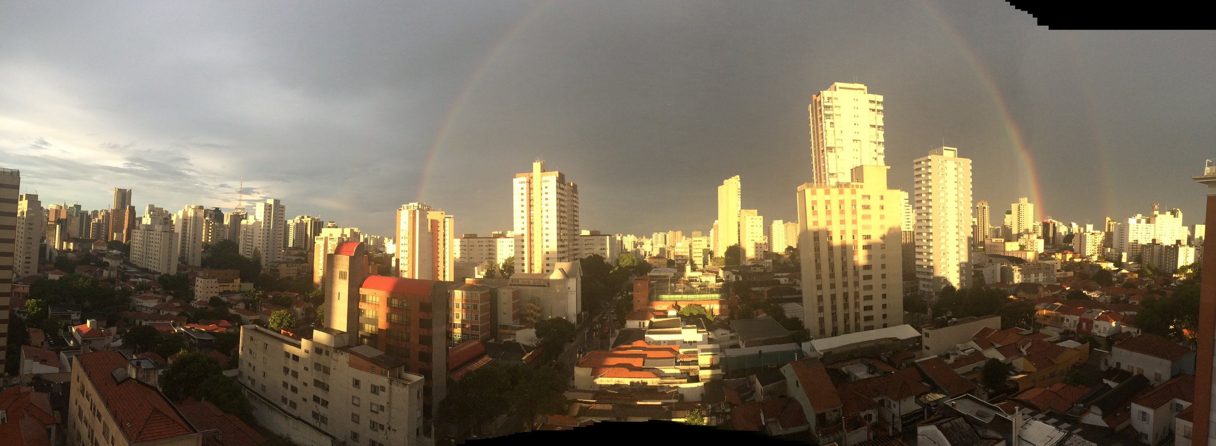 The view from our Airbnb after a rain shower