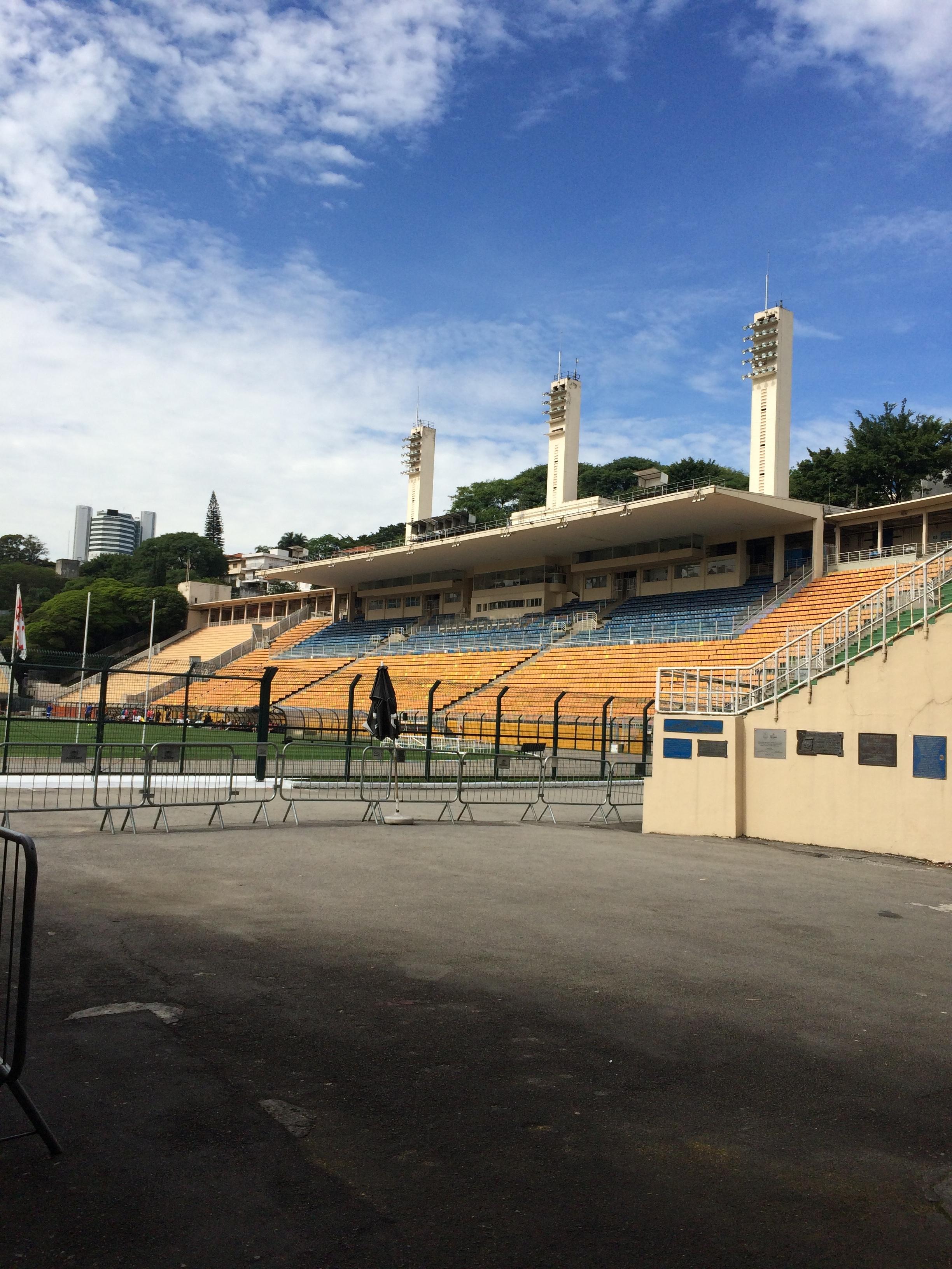 Inside the first soccer stadium