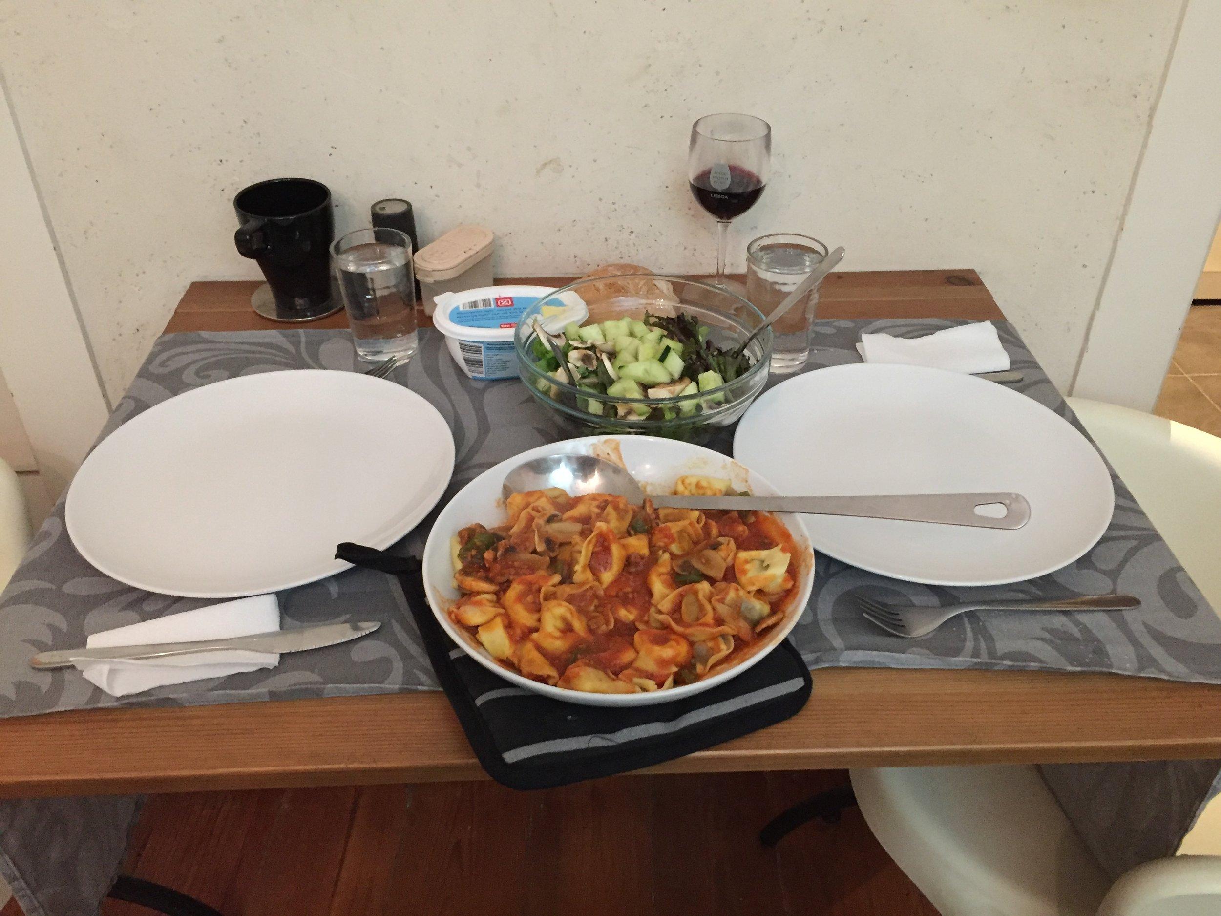 First night dinner