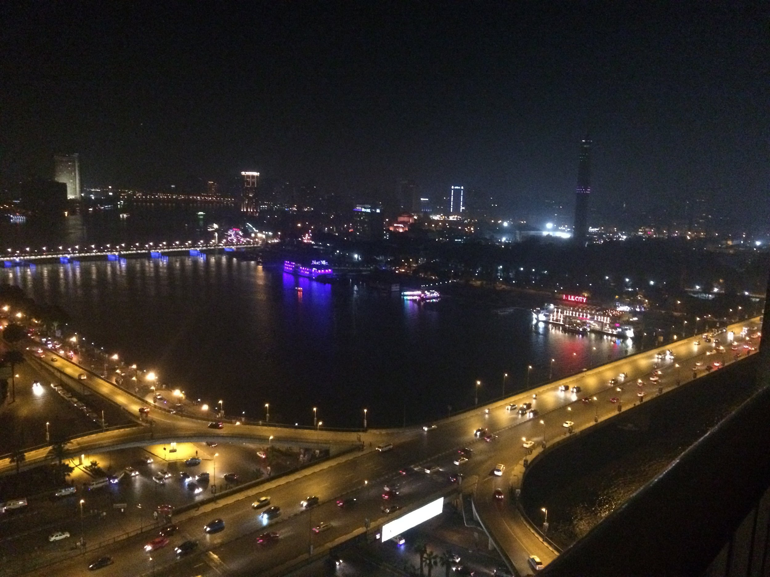 Night view of Nile