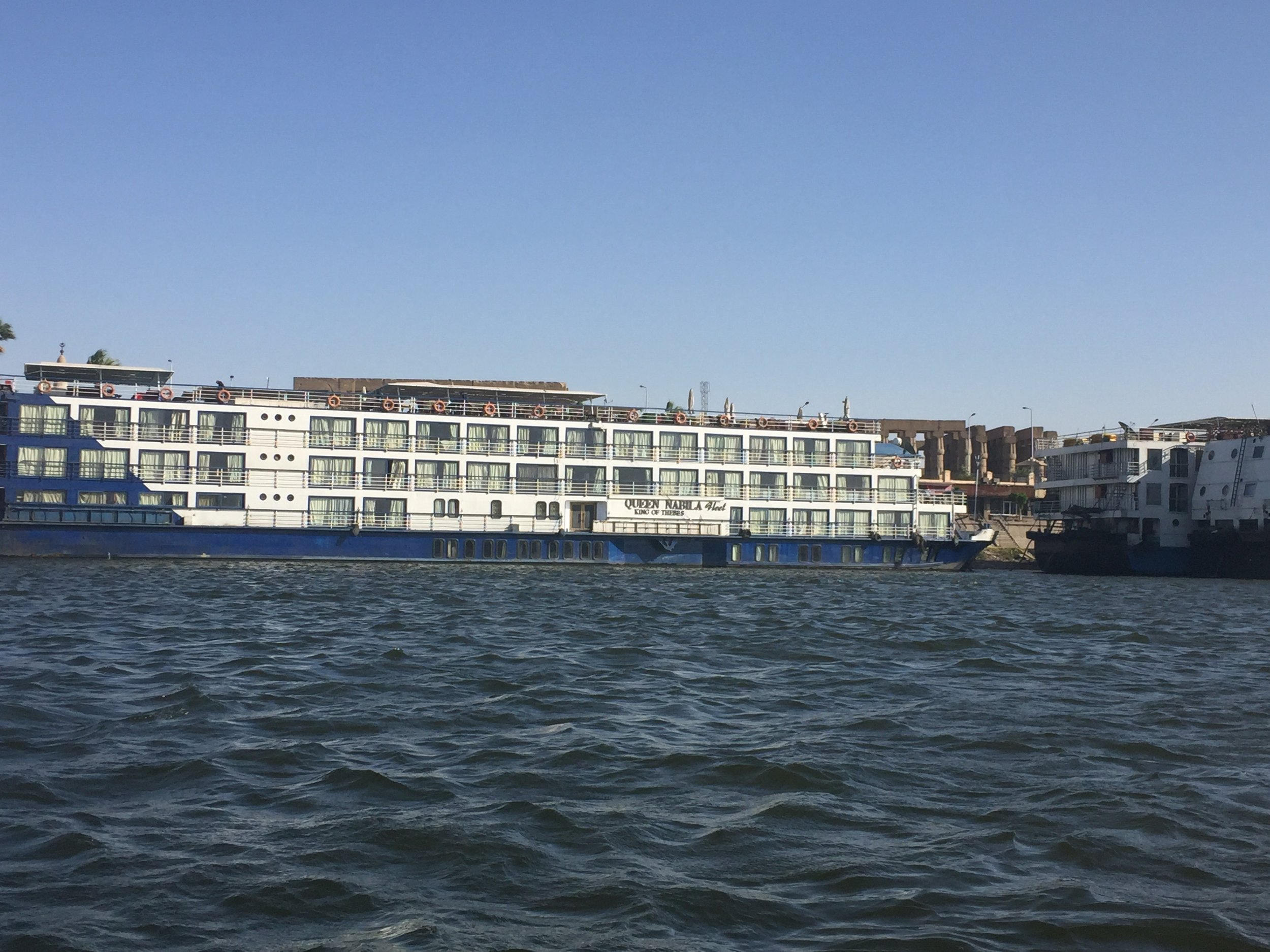 The river cruise ship