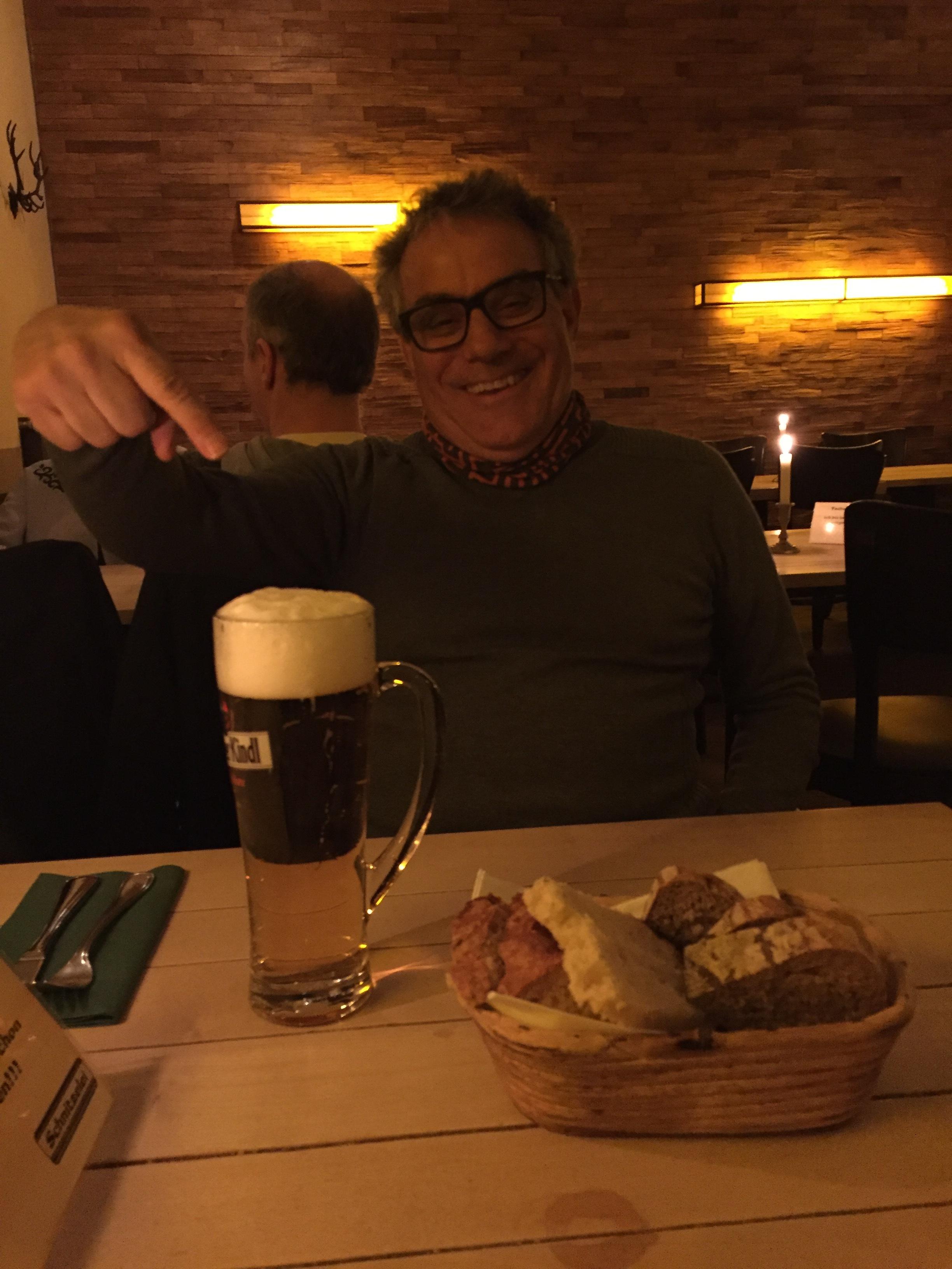 Frank's first German beer