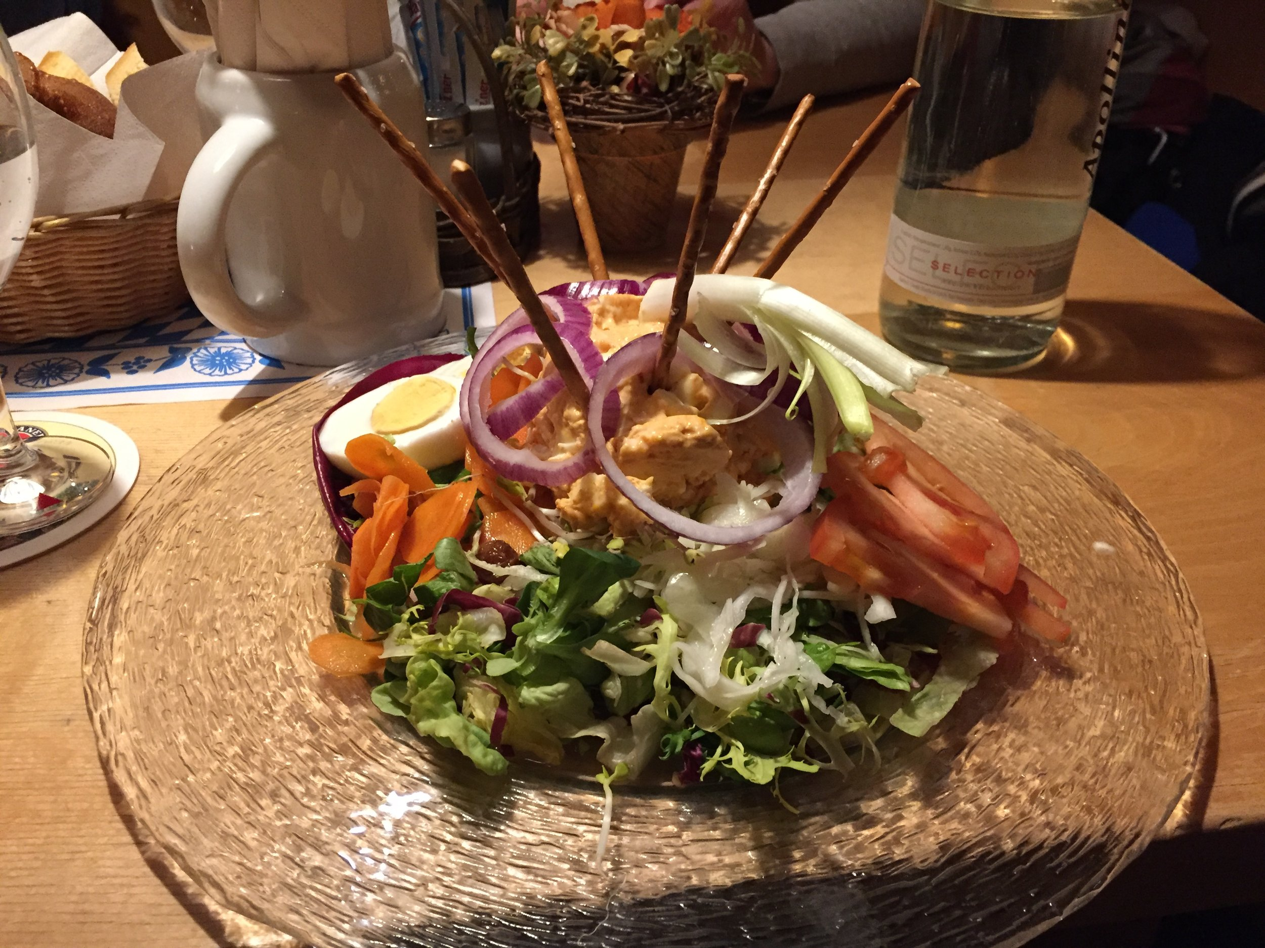 Salad Bavarian style for dinner