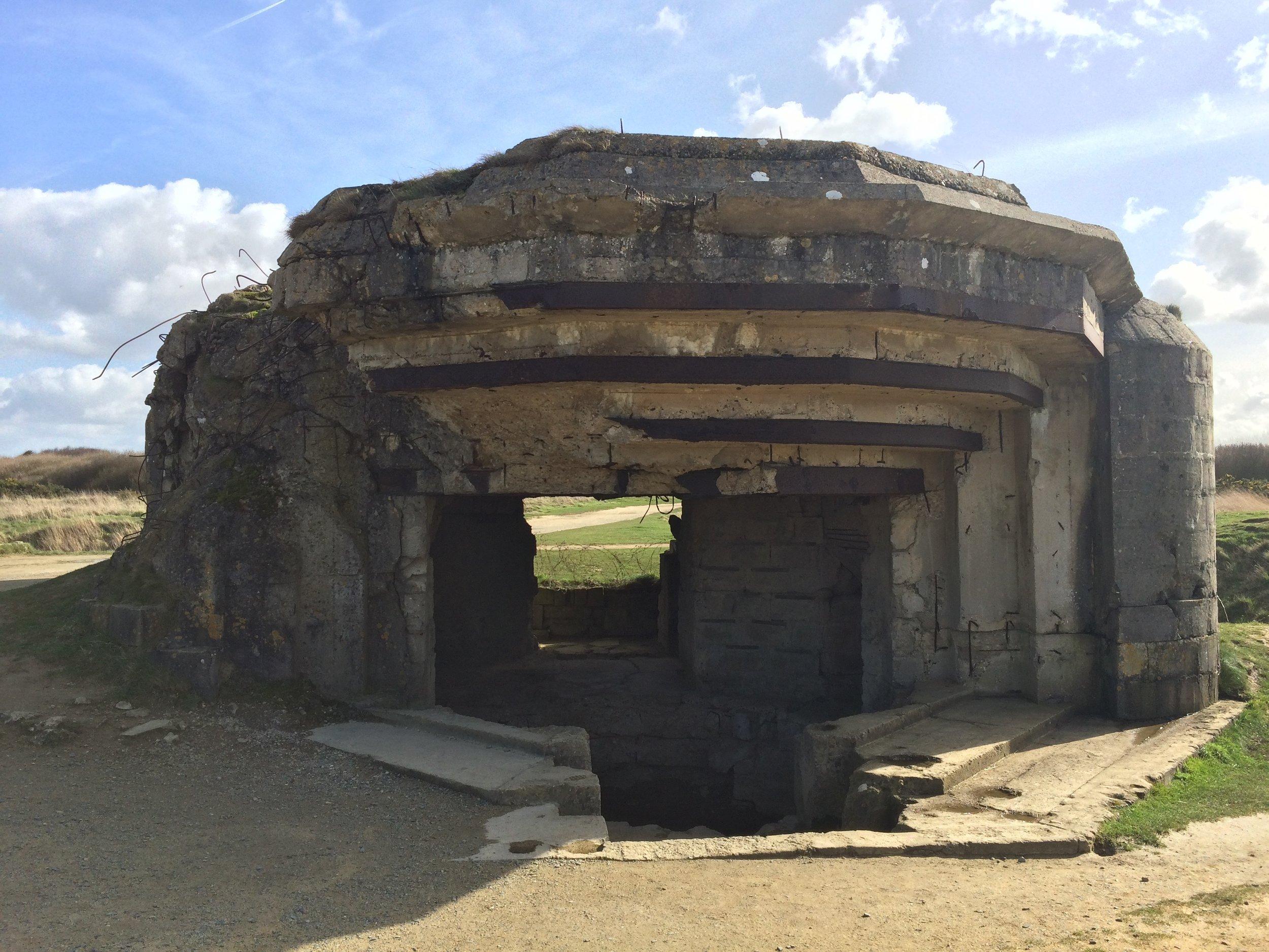 German beach bunker