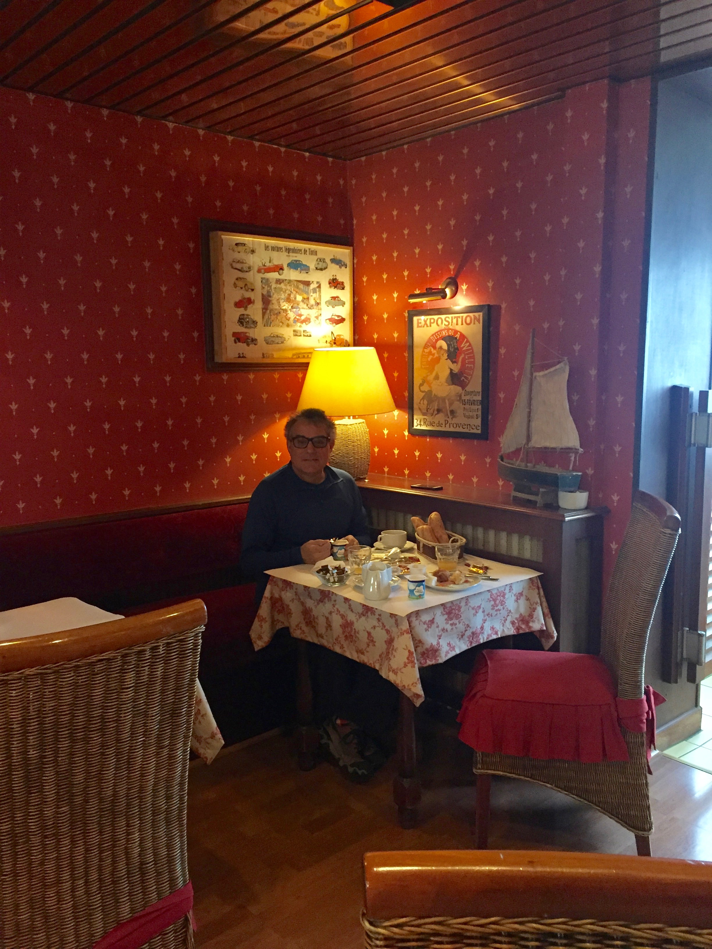 Breakfast at the Anne Bretagne Hotel