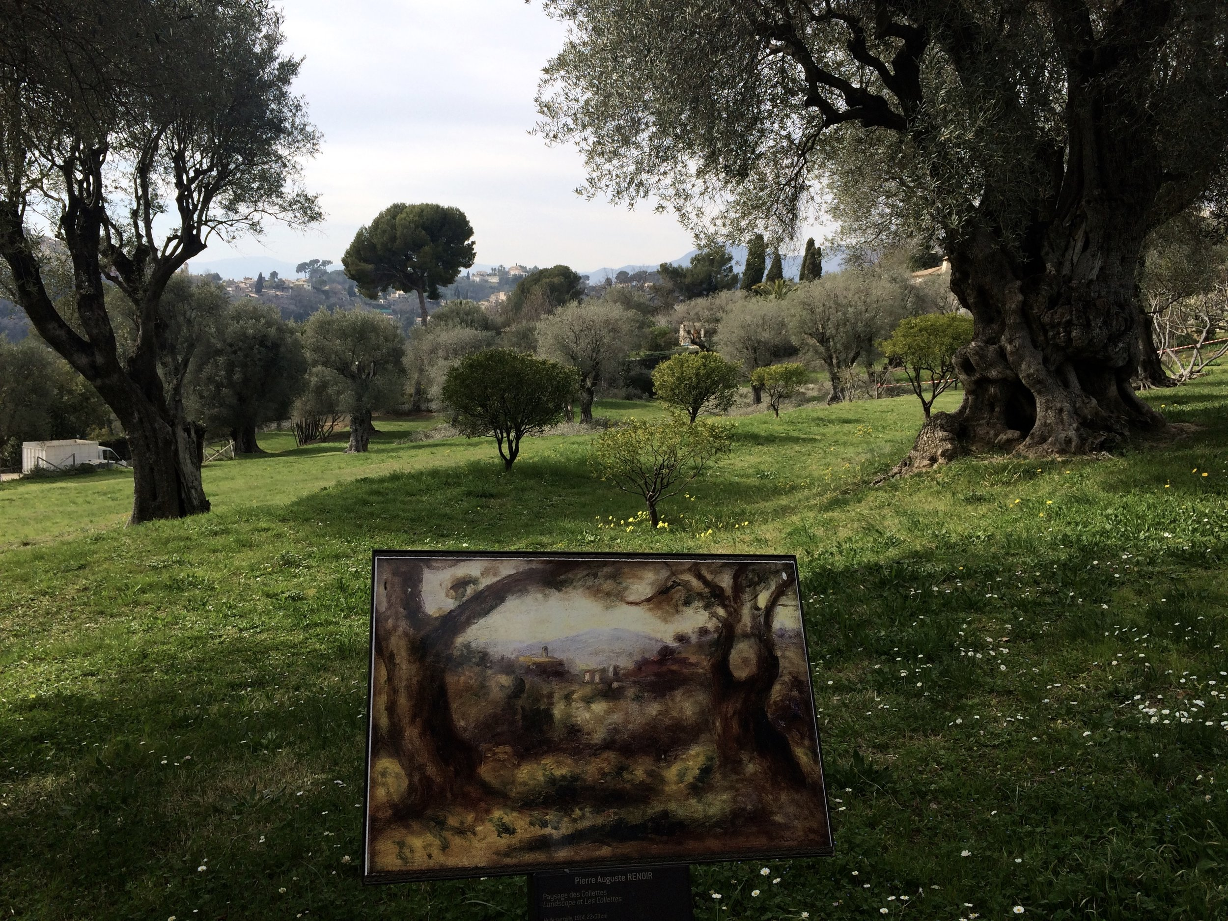A print of the painting set at the site