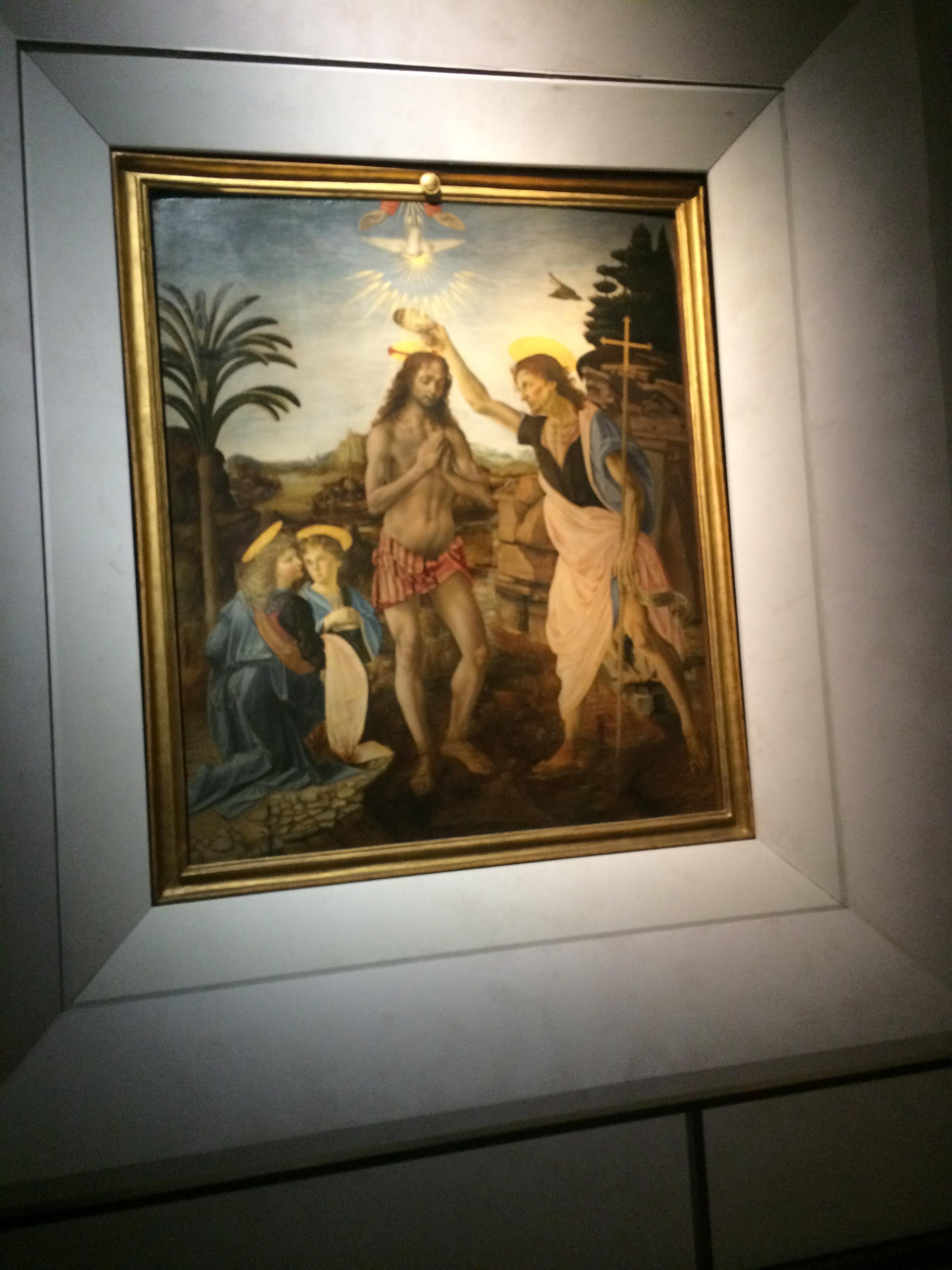 Annunciation by Leonardo da Vinci,