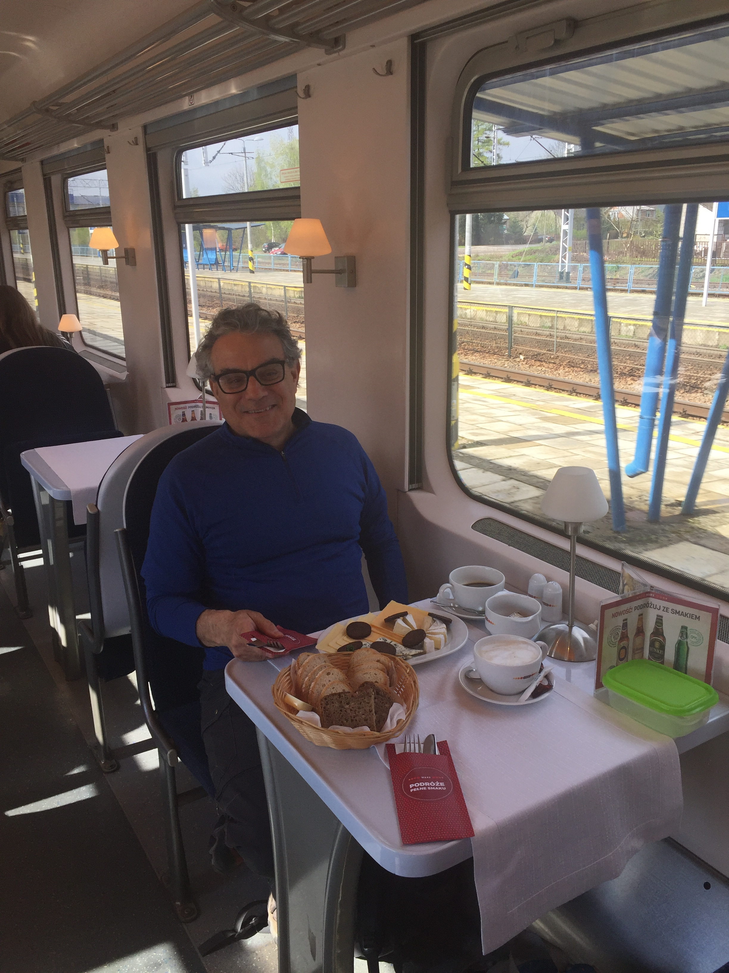 Great breakfast on the train