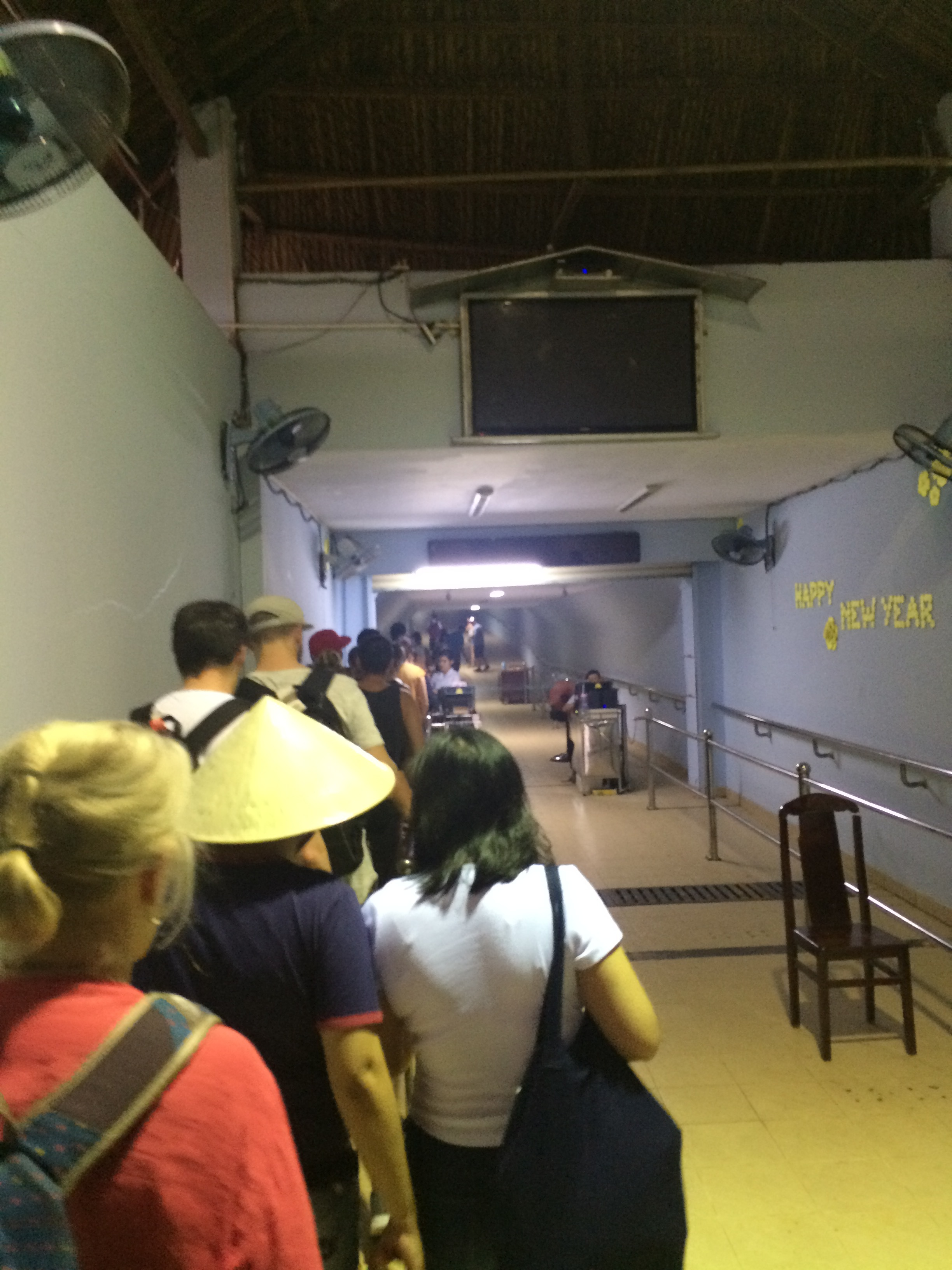 The line into the tunnel area