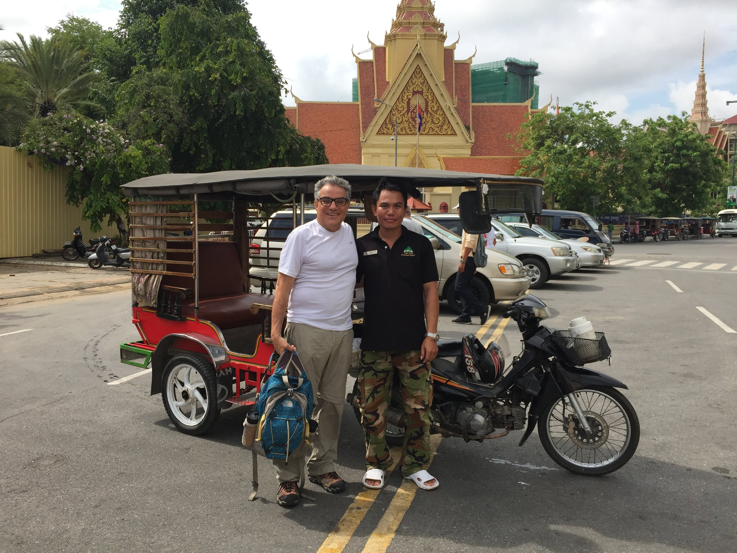Frank and our tuk tuk and driver