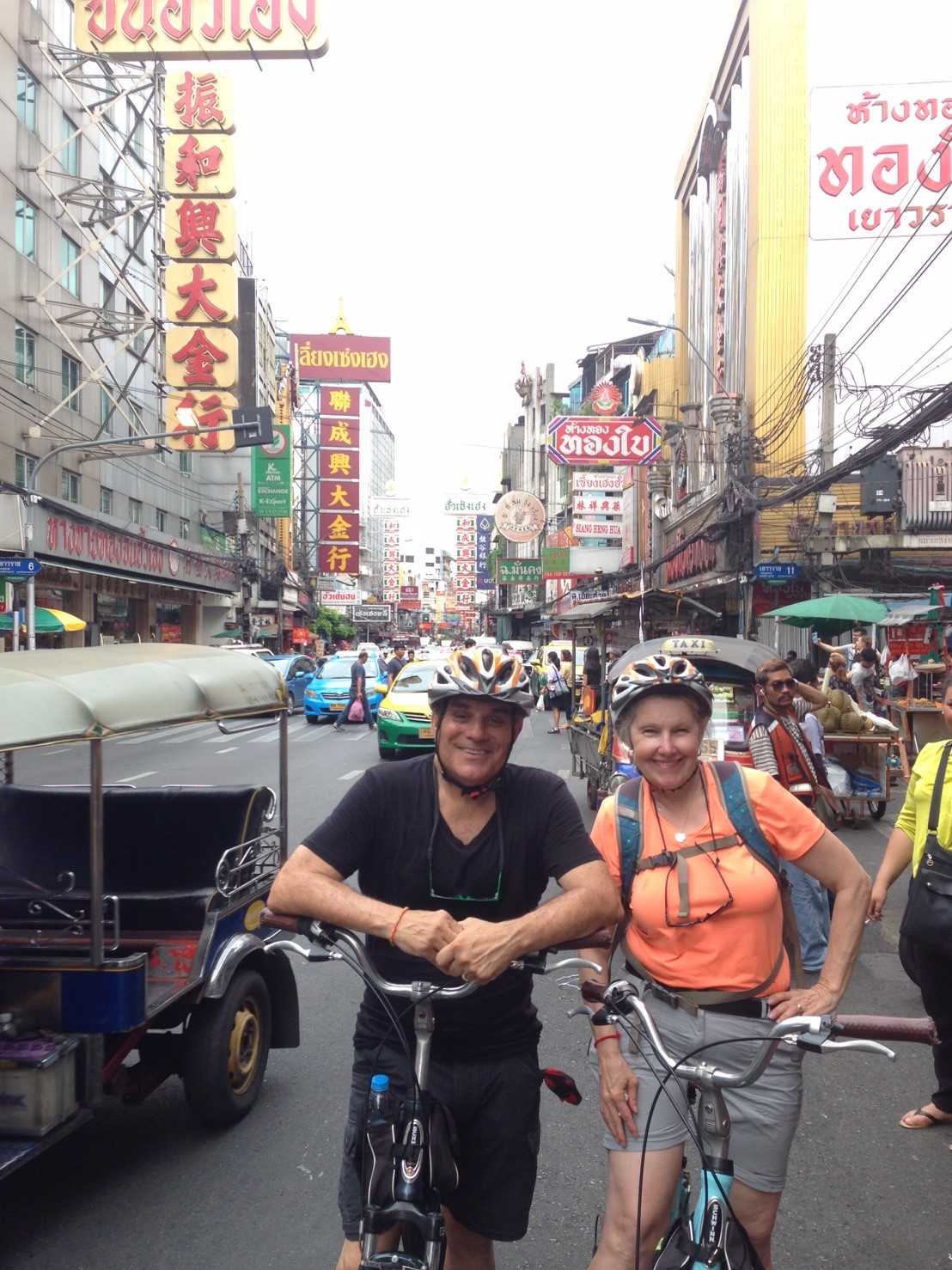 Biking the streets of China Town