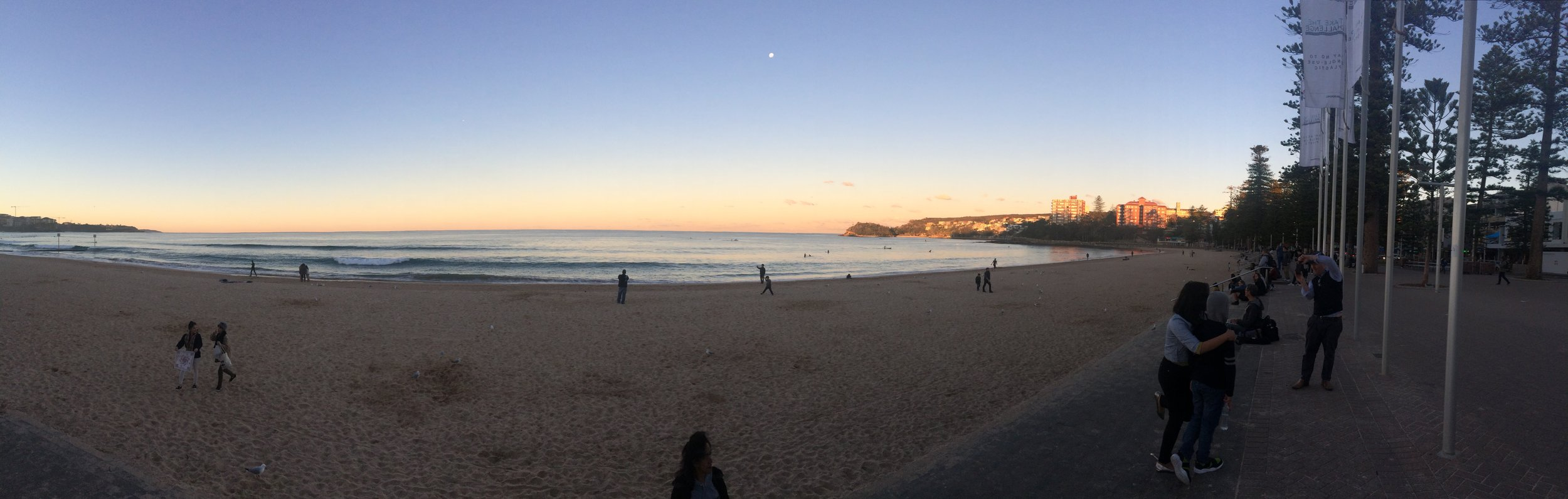 Sunset on Manly Beach