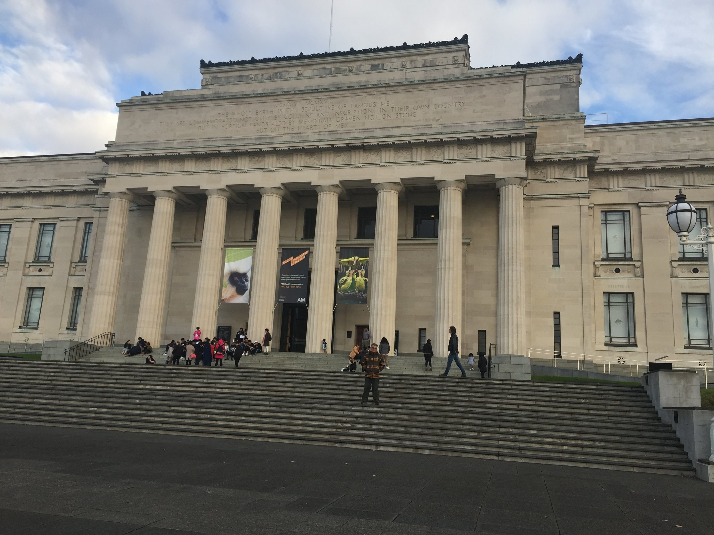 Frank at the Auckland Museum