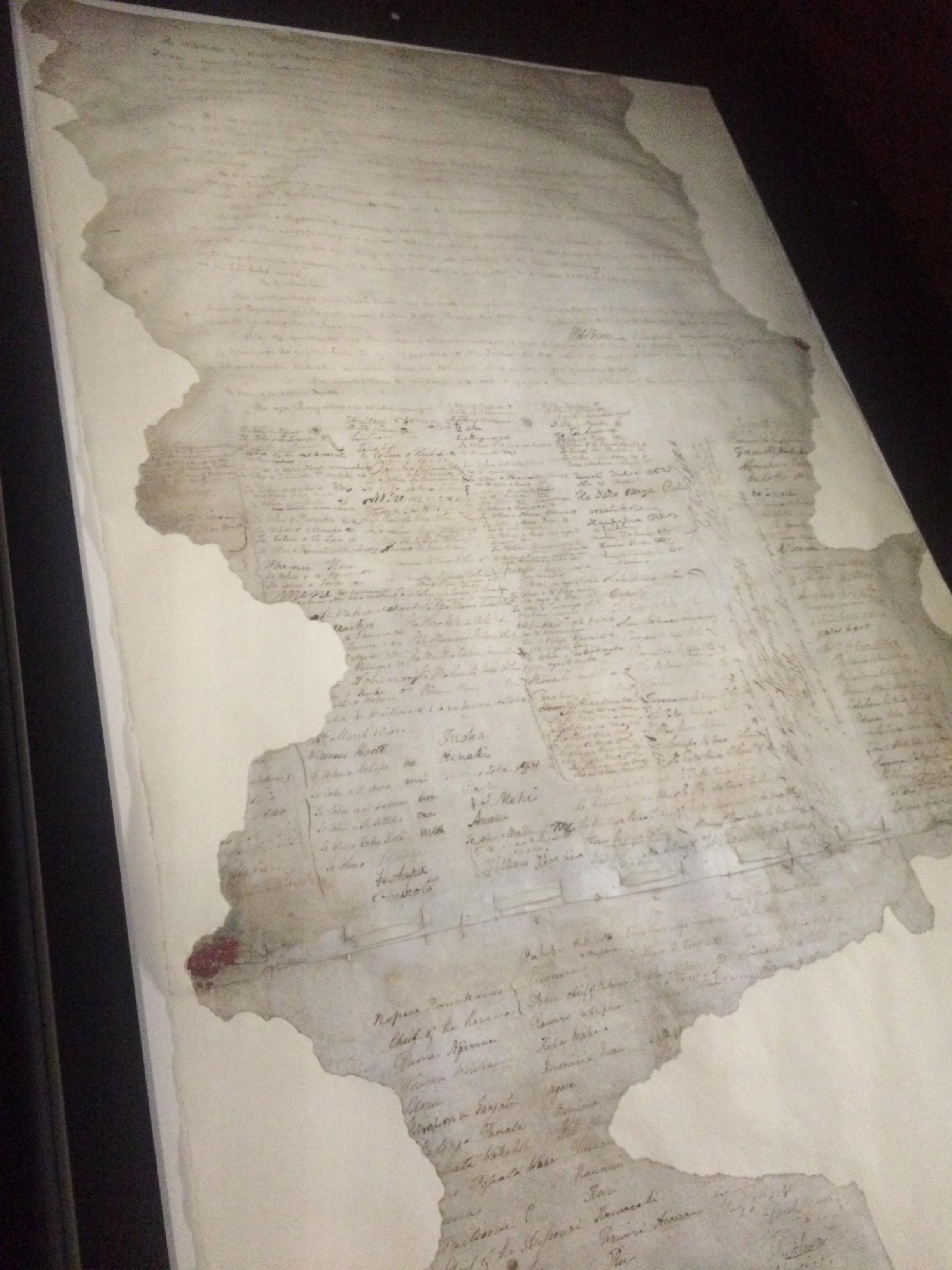 The original written treaty