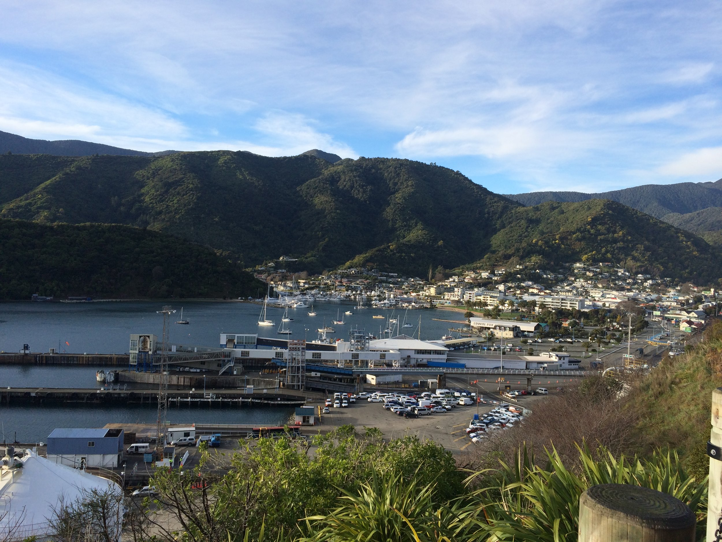 View of Picton harbor from the beginning of our drive