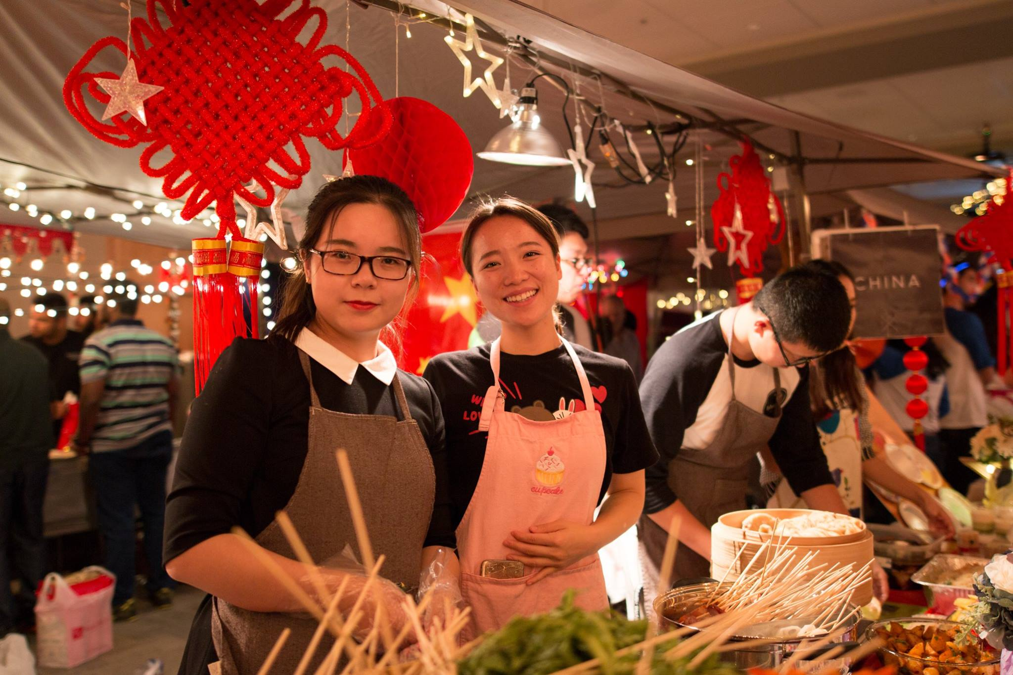 The China booth was a popular destination for food!