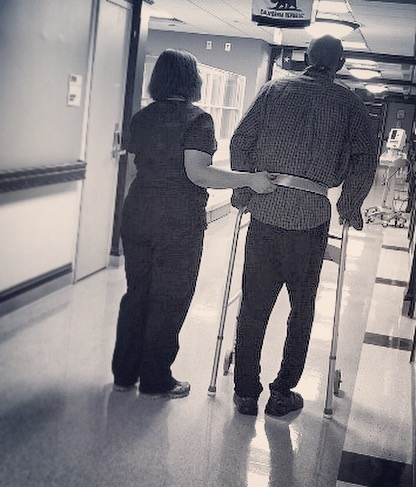 """#Dignity. #Honor. #Respect. #Care.  To the #wonderful staff @hopkinsmedicine @suburbanhospital.....#ThankYou. Thank you for bringing my dad through a successful surgery and helping him on the road to recovery. It's been a journey and """"miles to go before we sleep,"""" but the #love and care you have shown him, have shown US....words can't begin to express our #gratitude. • • • A heartfelt Thank You to my #amazing #friends and #family for keeping us in your #hearts during this #time - through the months of waiting and uncertainty, you have been there. From fielding meltdowns to sitting in silence... you (and your patience) have been there- every step of the way. THAT, to me, is friendship. Thank you. I love you. You're appreciated SO much more than you know. 🙏🏾❤️😇"""