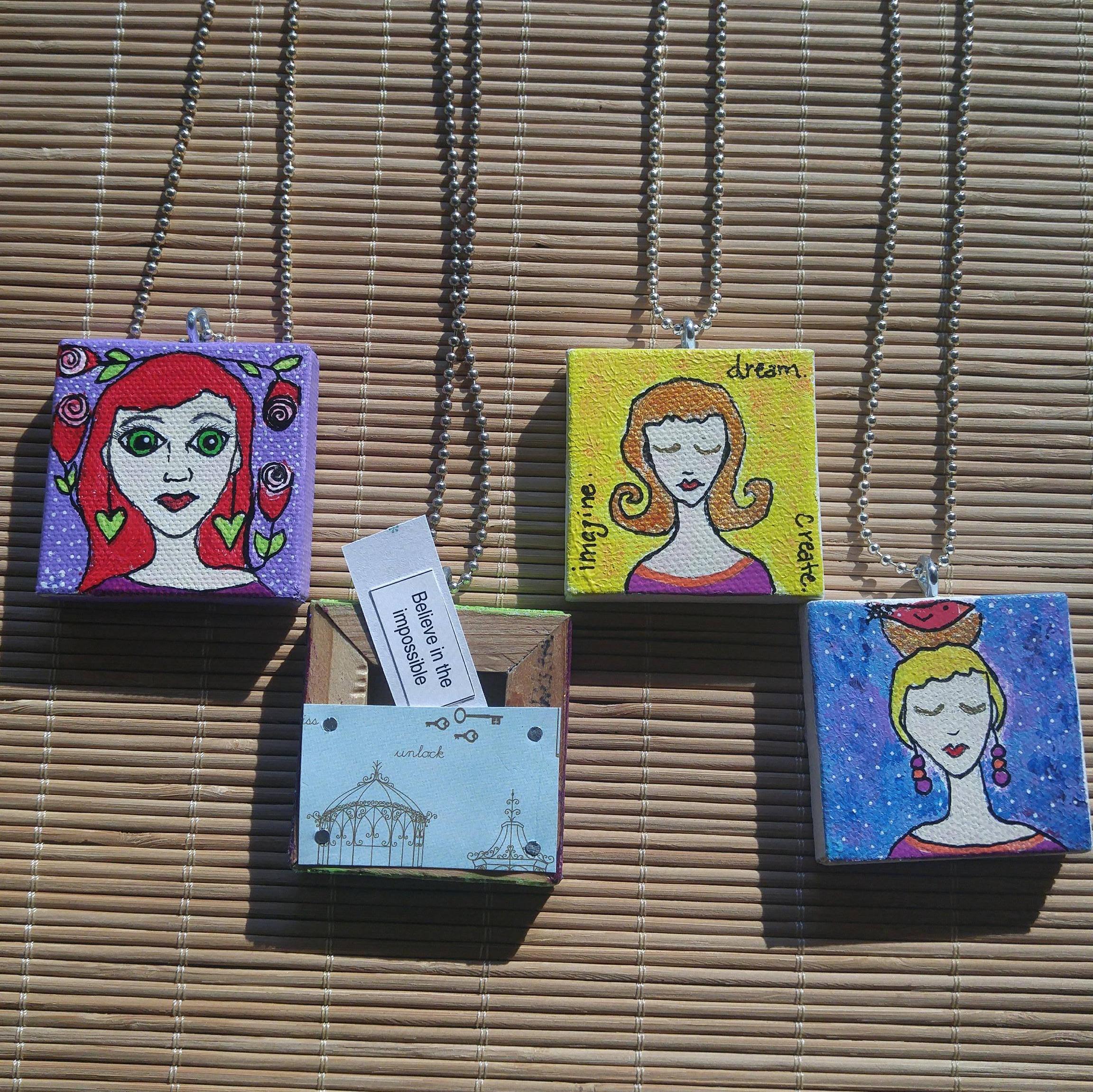 Envisioning Canvas | Toni Becker | Winston Salem, NC | local artist | Jasper and Fern | www.jasperandfern.com | Whimsical Jewels