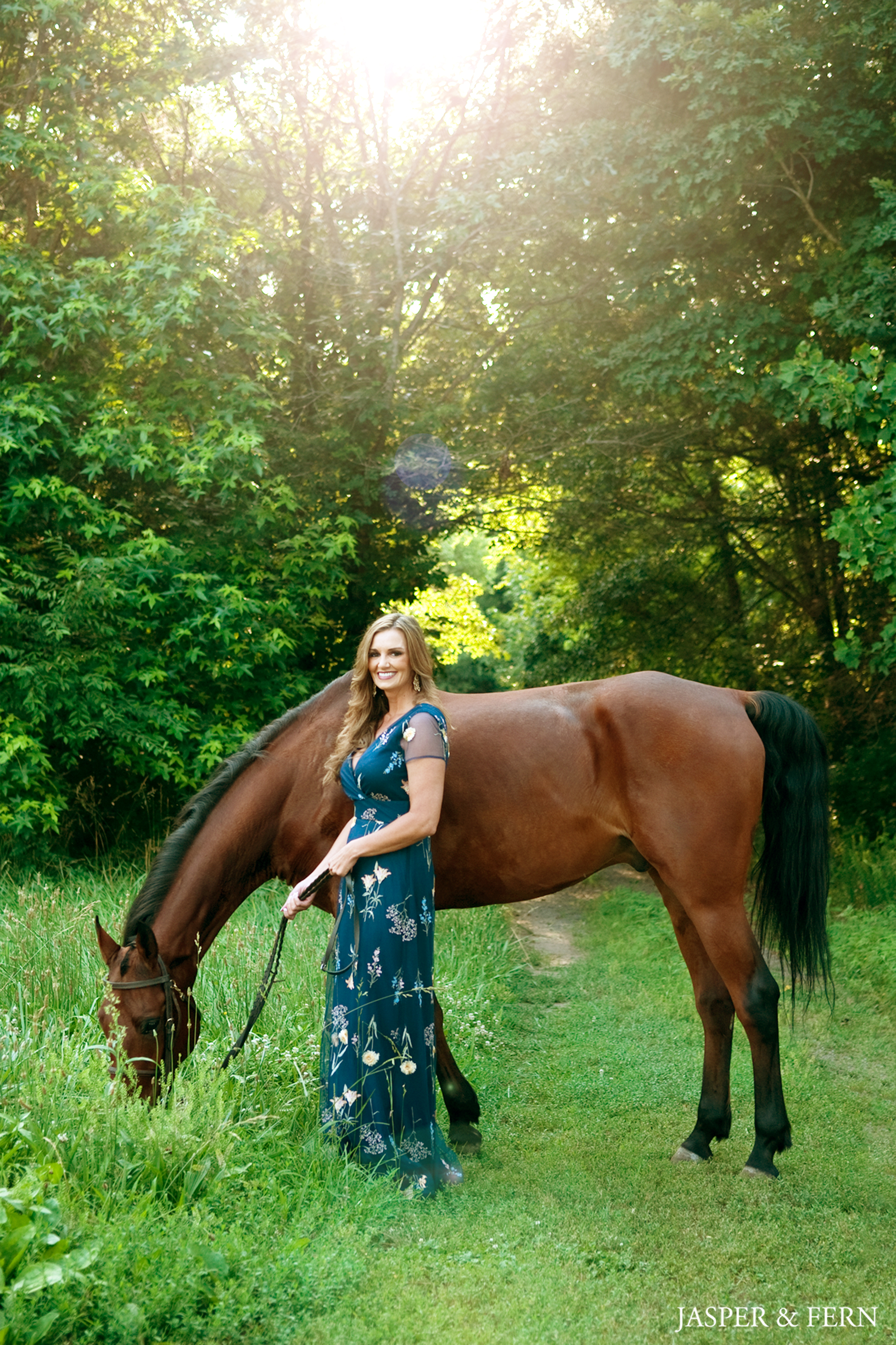 Pictures with horses | Women on horses | Women's Portraits | Farm photographs | horse photographs | True Heart Farm | Bermuda Run | Winston Salem | North Carolina | Portrait Photographer | Sunset Portraits | Equine Photography | Women's Photography | outdoor portraits | Glamour Photographs | outdoor photography | beautiful women | beautiful horses | country life | country living | brown horse | blue dress with flowers | Glamour curls | summer photographs | Summer days | Jasper and Fern | Jasper & Fern | animal photography | animal portraits | portraits with animals | Greensboro | Equine | Equestrian | Show Horse | cute animal photos | Western North Carolina | nature photography | Nature portraits | Nature pics | pet photograph | pet pictures | pet photographer | wsnc | downtown winston salem | embroidered flowers | blue embroidered summer dress | Target | women's dresses | summer dresses for women