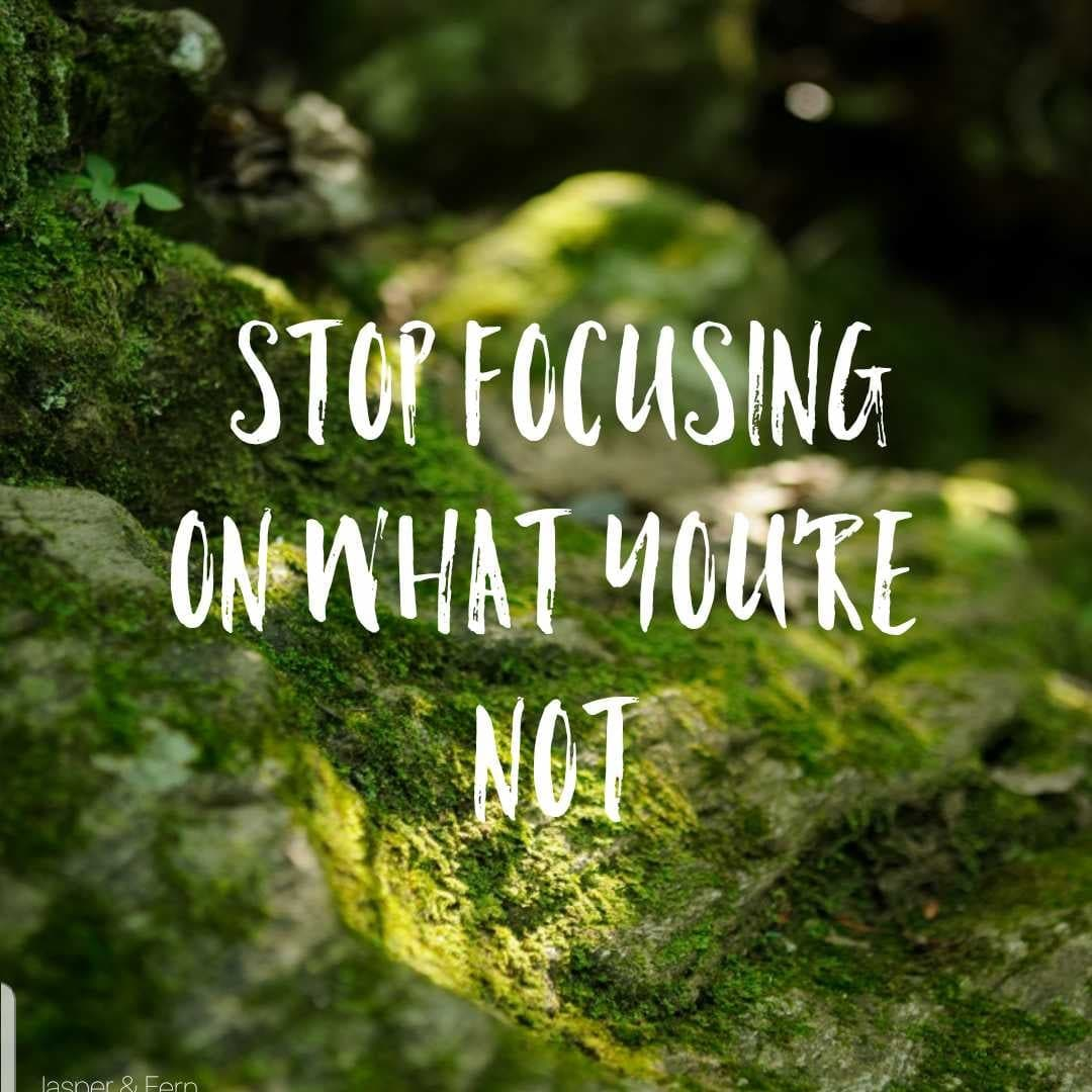 Stop Focusing on What You're Not | Inspirational Quotes for Self Worth | Self Care Quotes | Encouraging Quotes for women dealing with Imposter Syndrome | Boss Babe | Entrepreneur Life Quotes | Hustle Quotes | Comparison | Strength | Winston Salem, North Carolina Photographer | Jasper & Fern