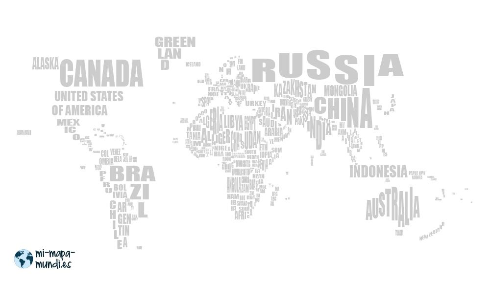 mapa mundi con banderas