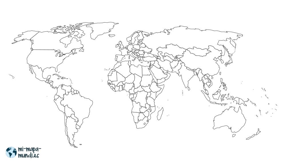 mapa mundi fondo blanco