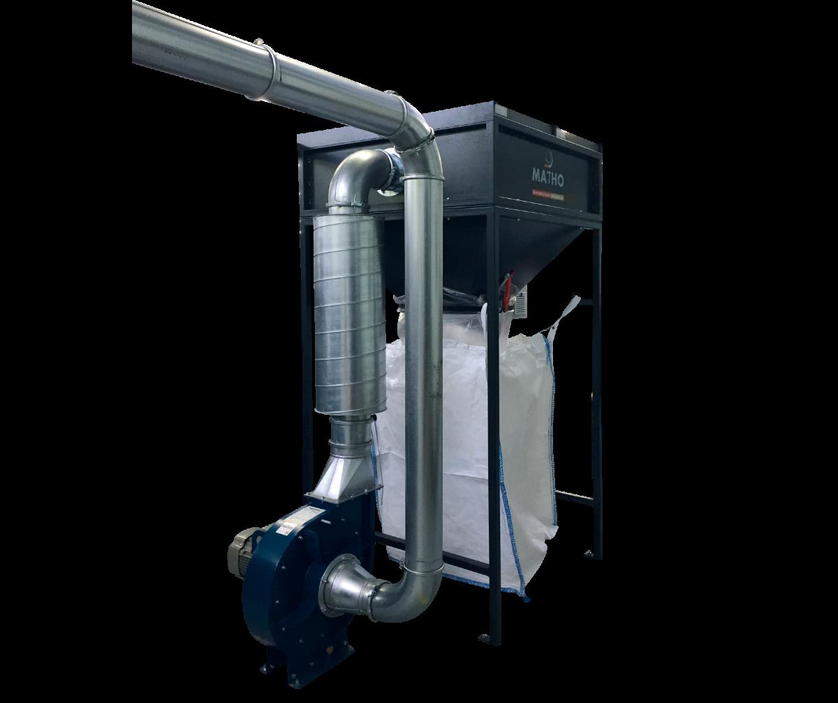 CUTTOBAGCB-1000 - Sistema fixo p/ remoção e fragmentação de aparas