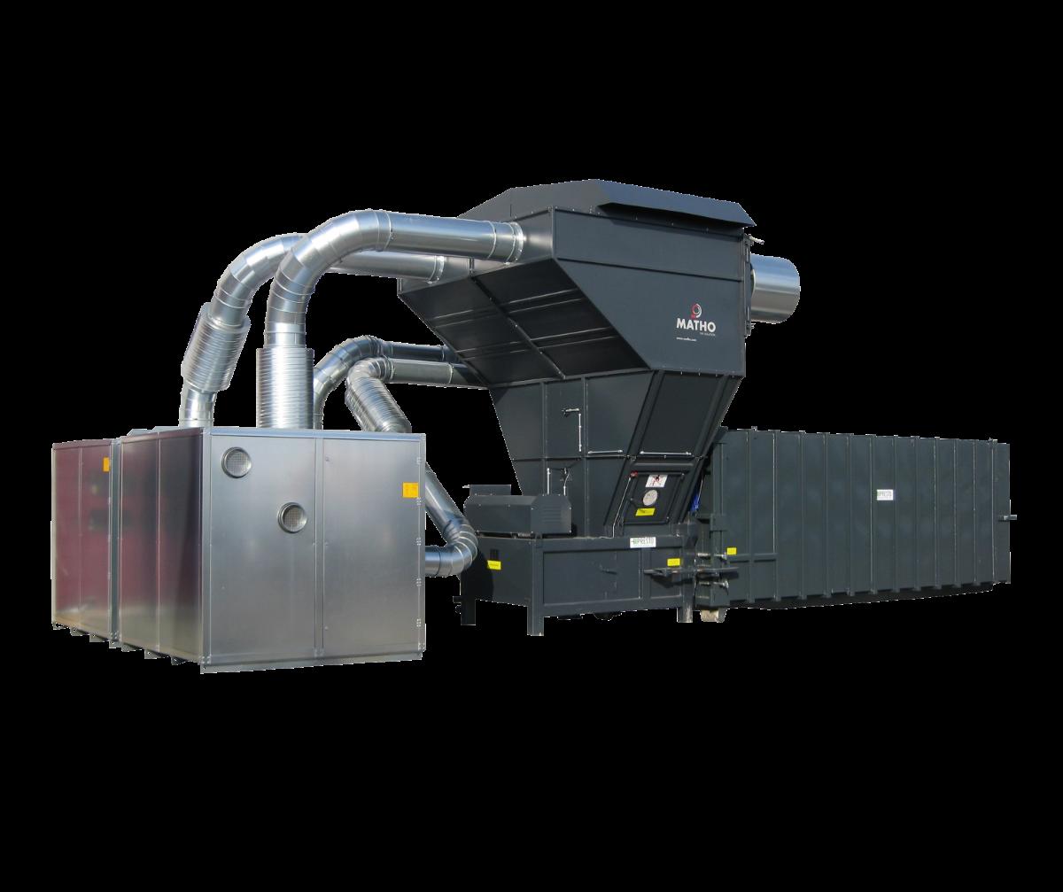 CUTTOPRESS - Sistema centralizado p/ remoção e fragmentação de aparas de várias máquinas em simultâneo