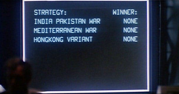 WOPR running though all nuclear possibilities.