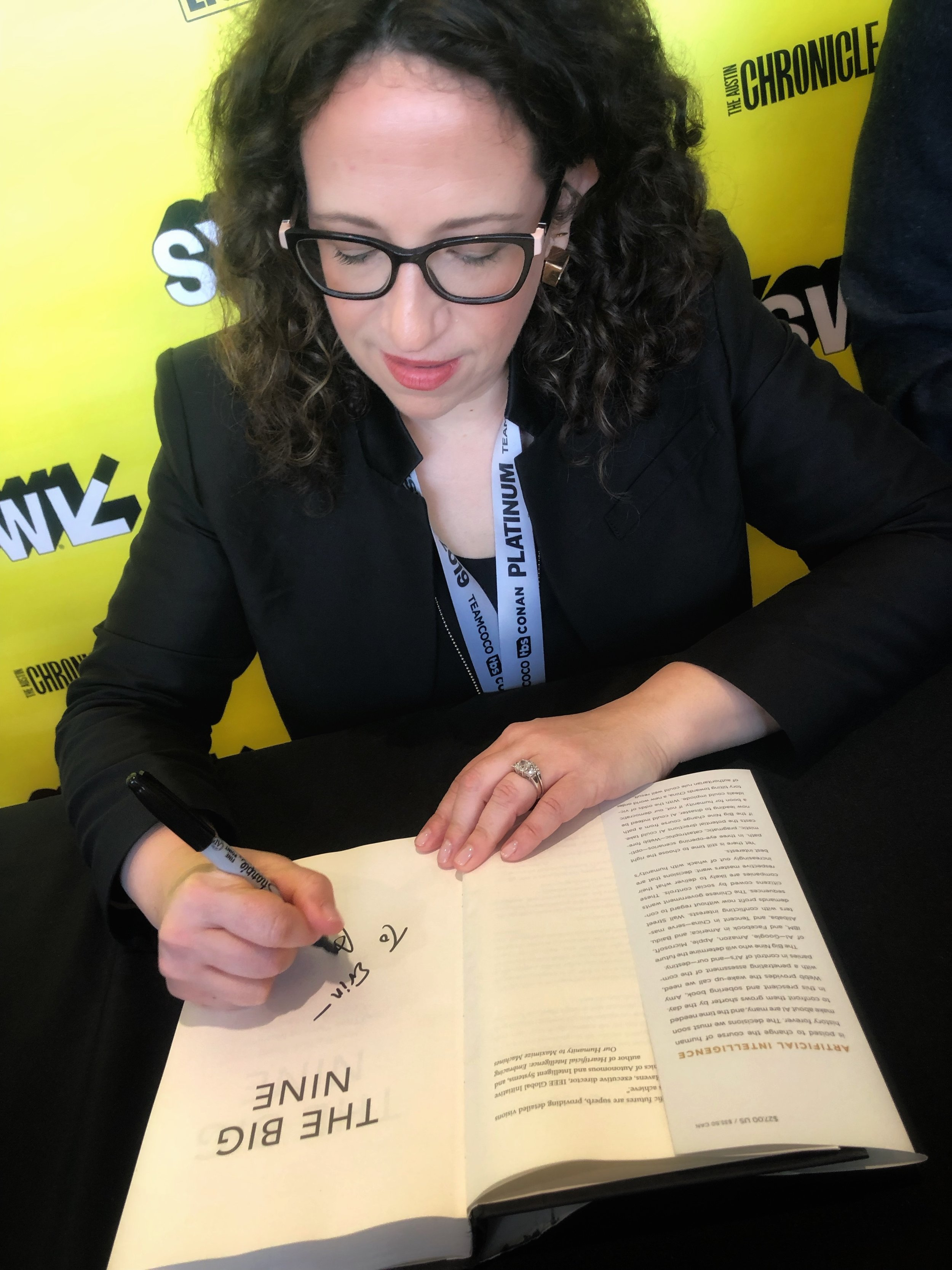 Amy Webb signing my book