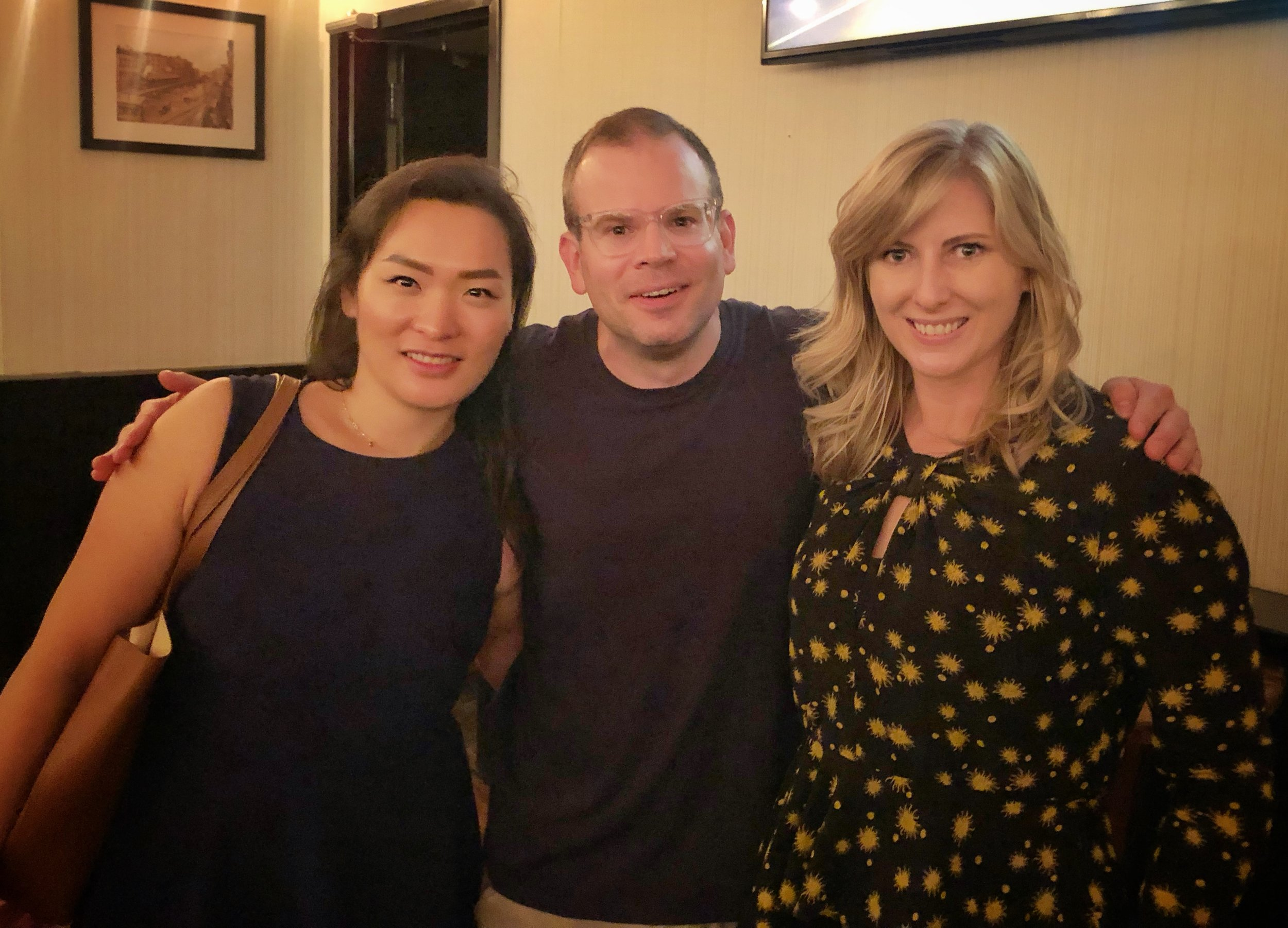 Stella Kim, Adam Wade, and Erin Essex