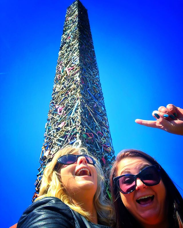 Cyclisk  Yes an obelisk made of bicycles  #roadsideamerica #cyclisk #santarosa #calife