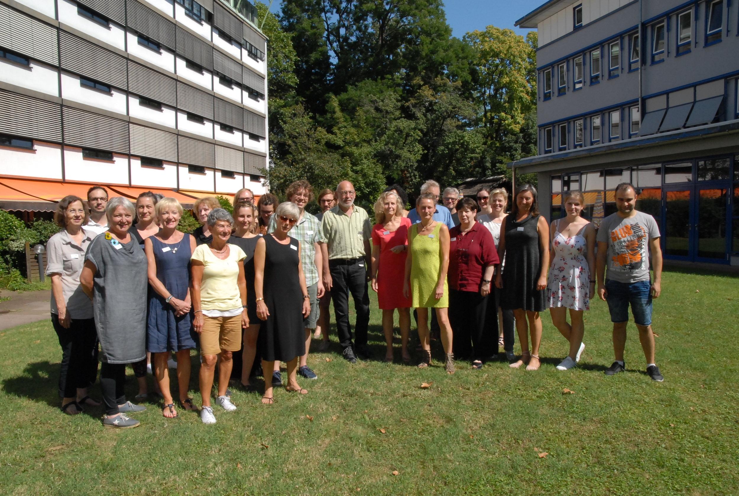 Das Team der ersten Schulungsrunde am 27./28.08.2016 im  Erich Nitzling-Haus, AWO Geschäftsstelle, EG