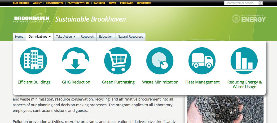 Cion labels used on the 'Sustainable Brookhaven' website.