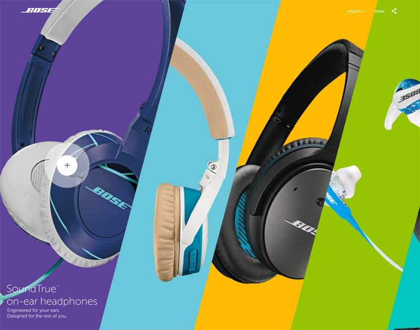 New From Bose home page.