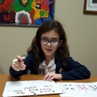 Learning is fun! - Ava playing a math game.