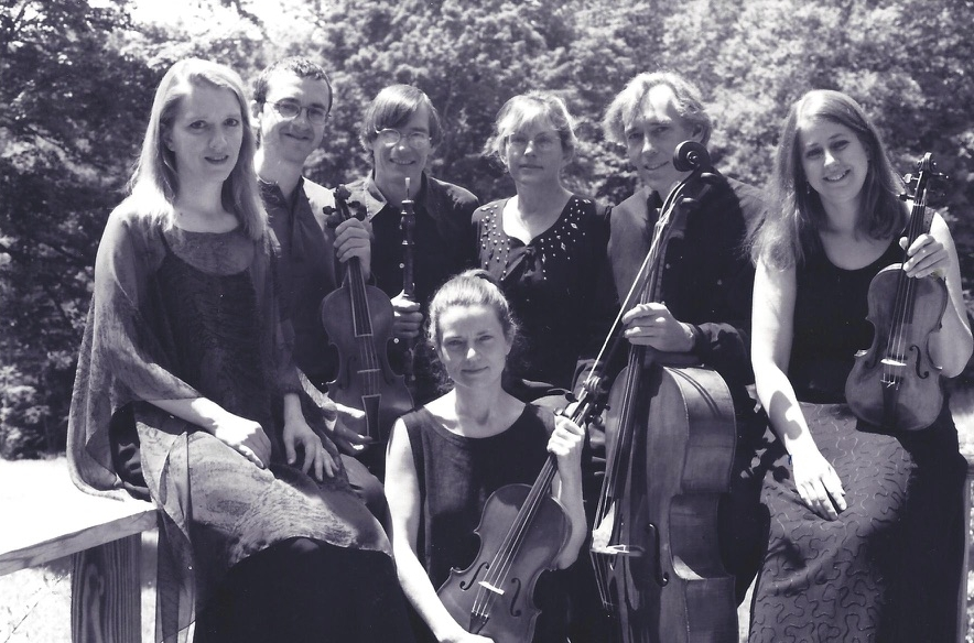 Left to right: Emily Van Evera, Brian Brooks, Richard Earle, Suzanne Cleverdon, Timothy Merton, Claire Jolivet and Jenny Stirling (seated)