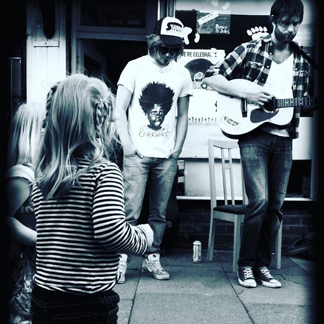 Record Store Day set outside Polar Bear in our beloved Kings Heath a few years ago. #livemusic #recordstoreday
