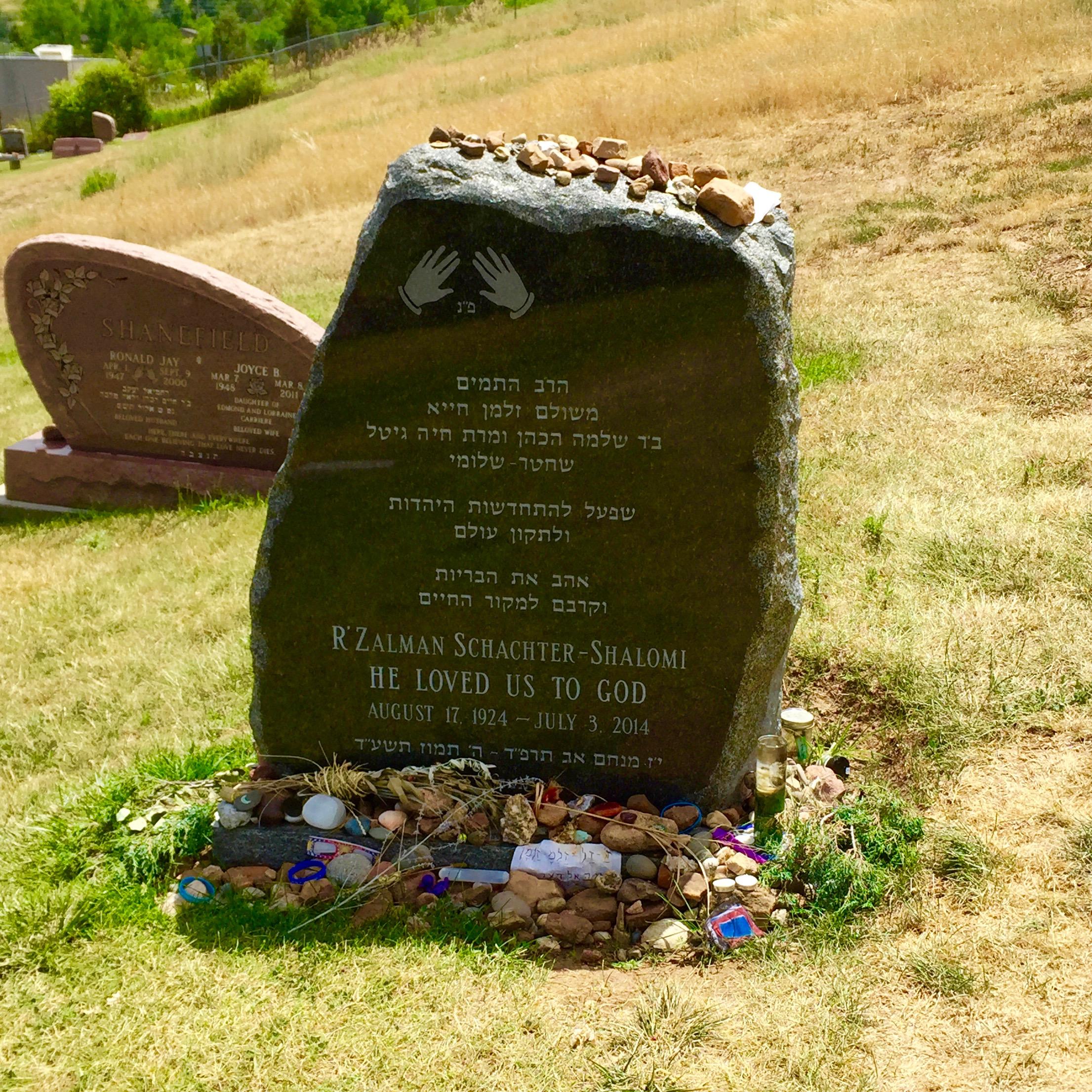 Prayers at the grave of a tzaddik...