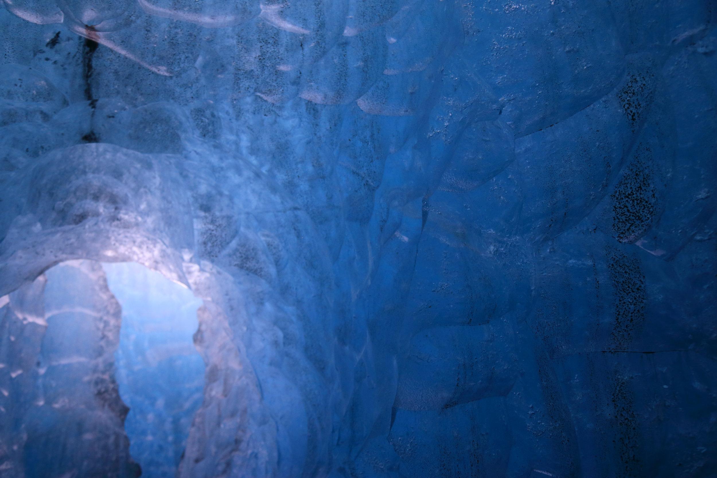 Icy blue hues