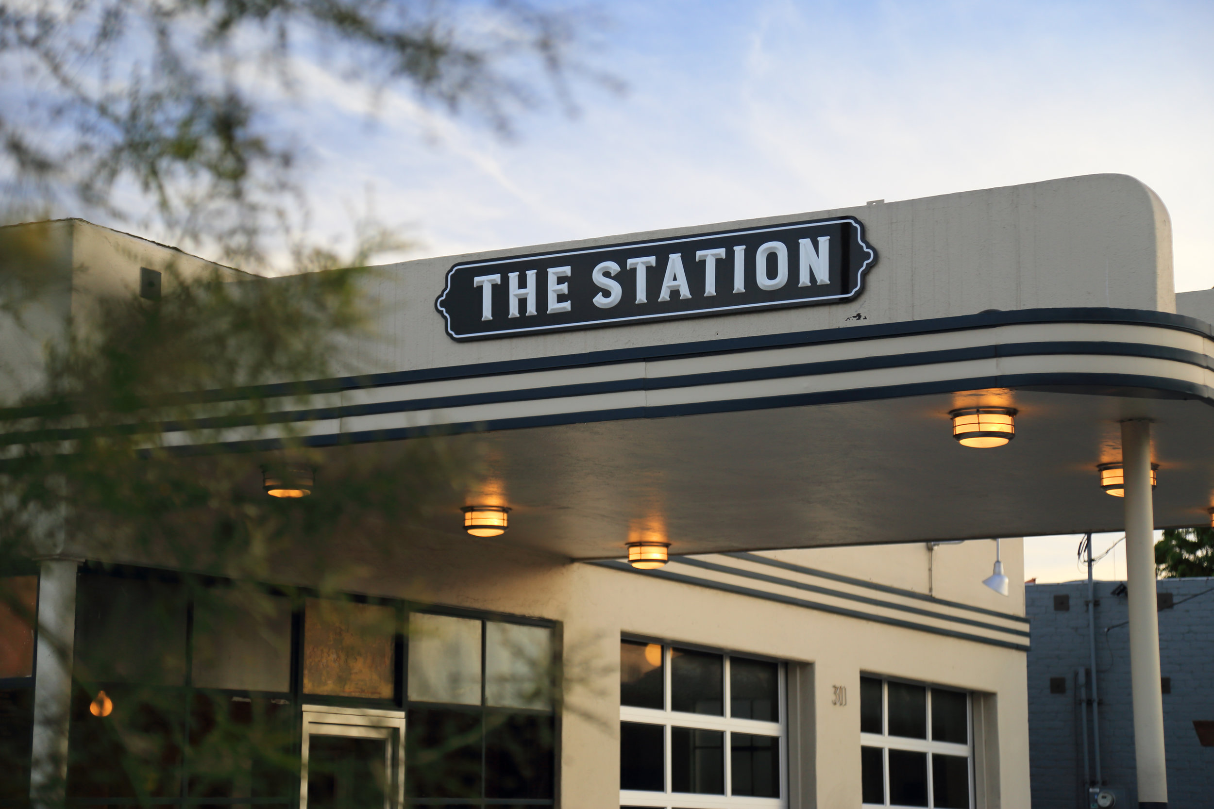 The Station sign