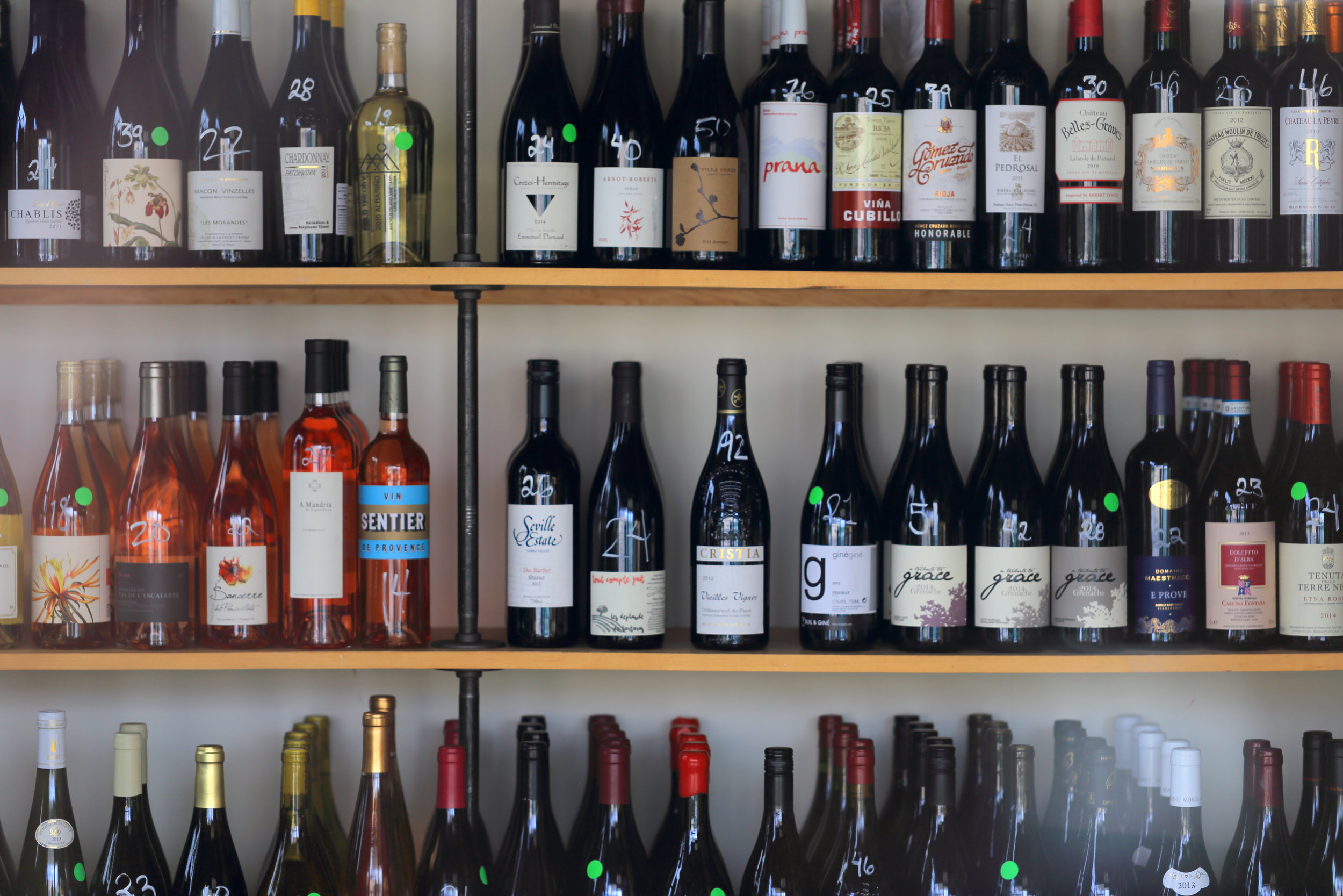 Worldly wine selection