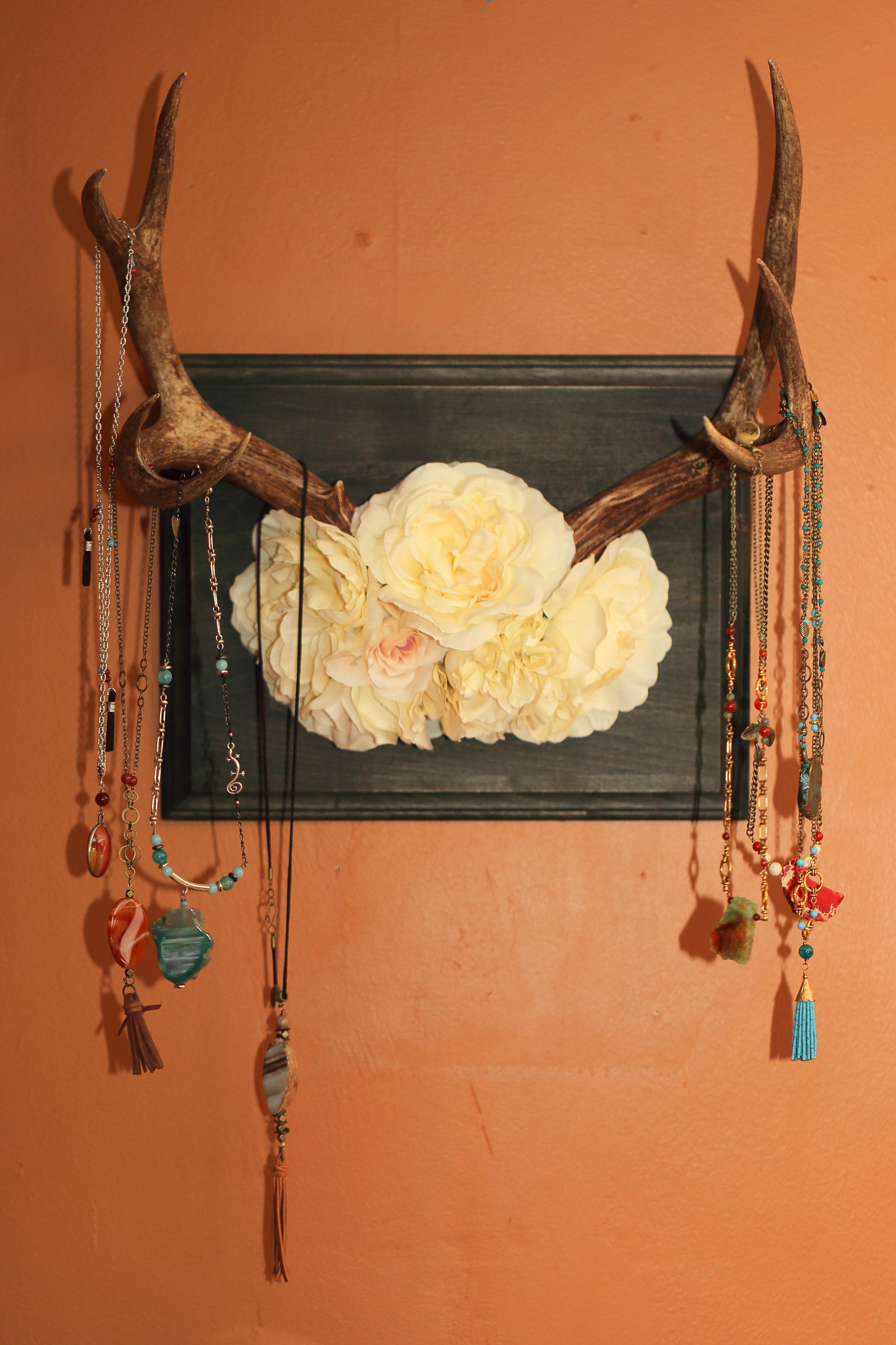 Artfully displayed jewelry