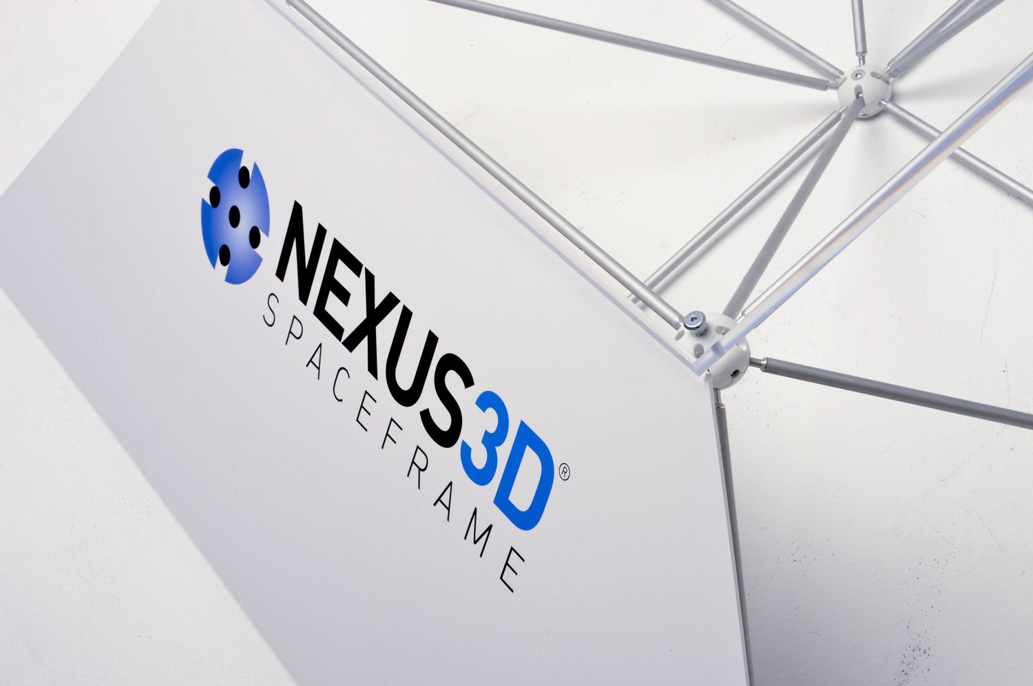 NEXUS 3D  New branding for a revolutionary space frame exhibition system