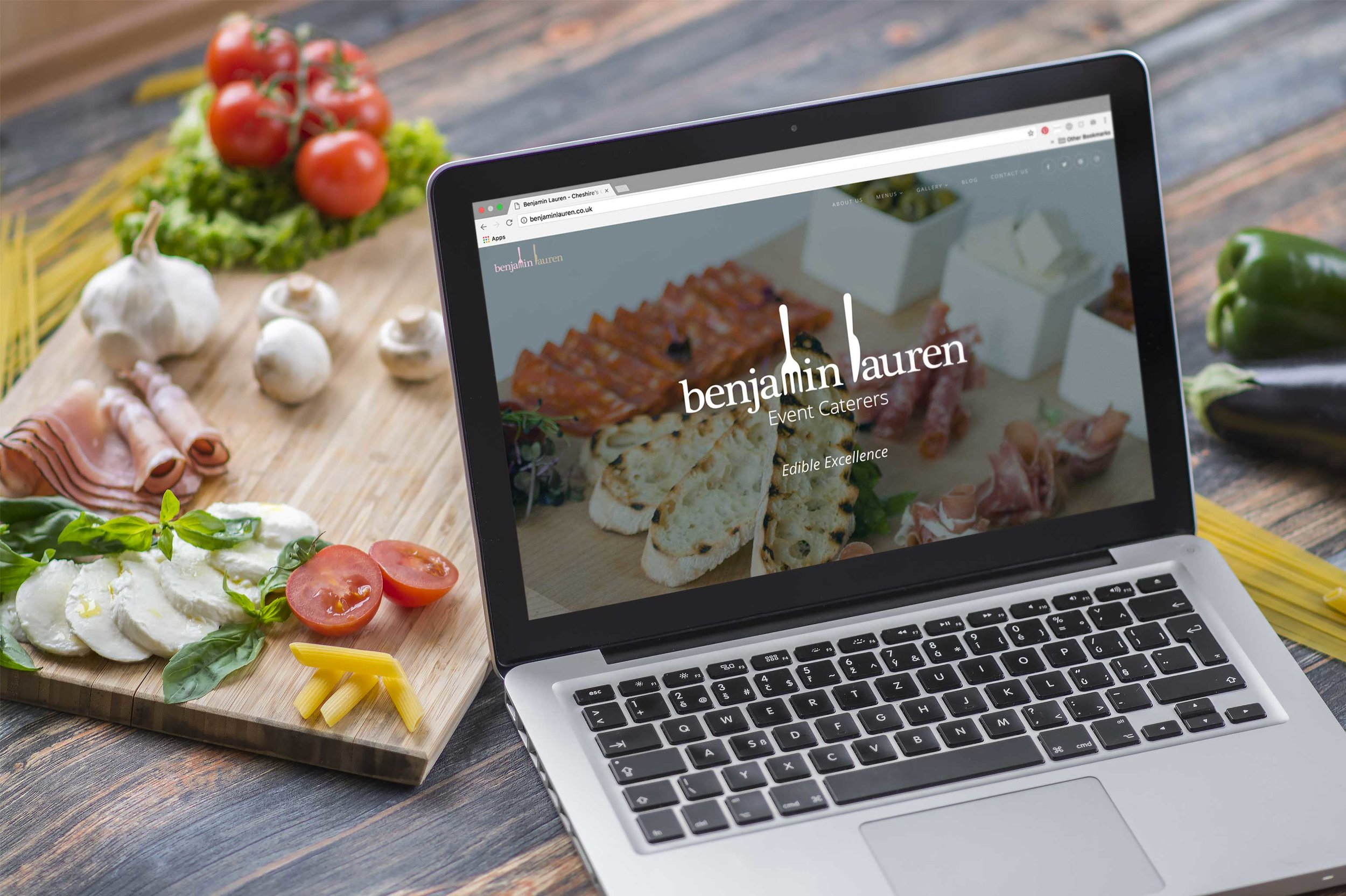 BENJAMIN LAUREN  New responsive website for a Cheshire-based event caterers