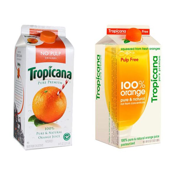 The classic packaging compared with the 'modern' redesign