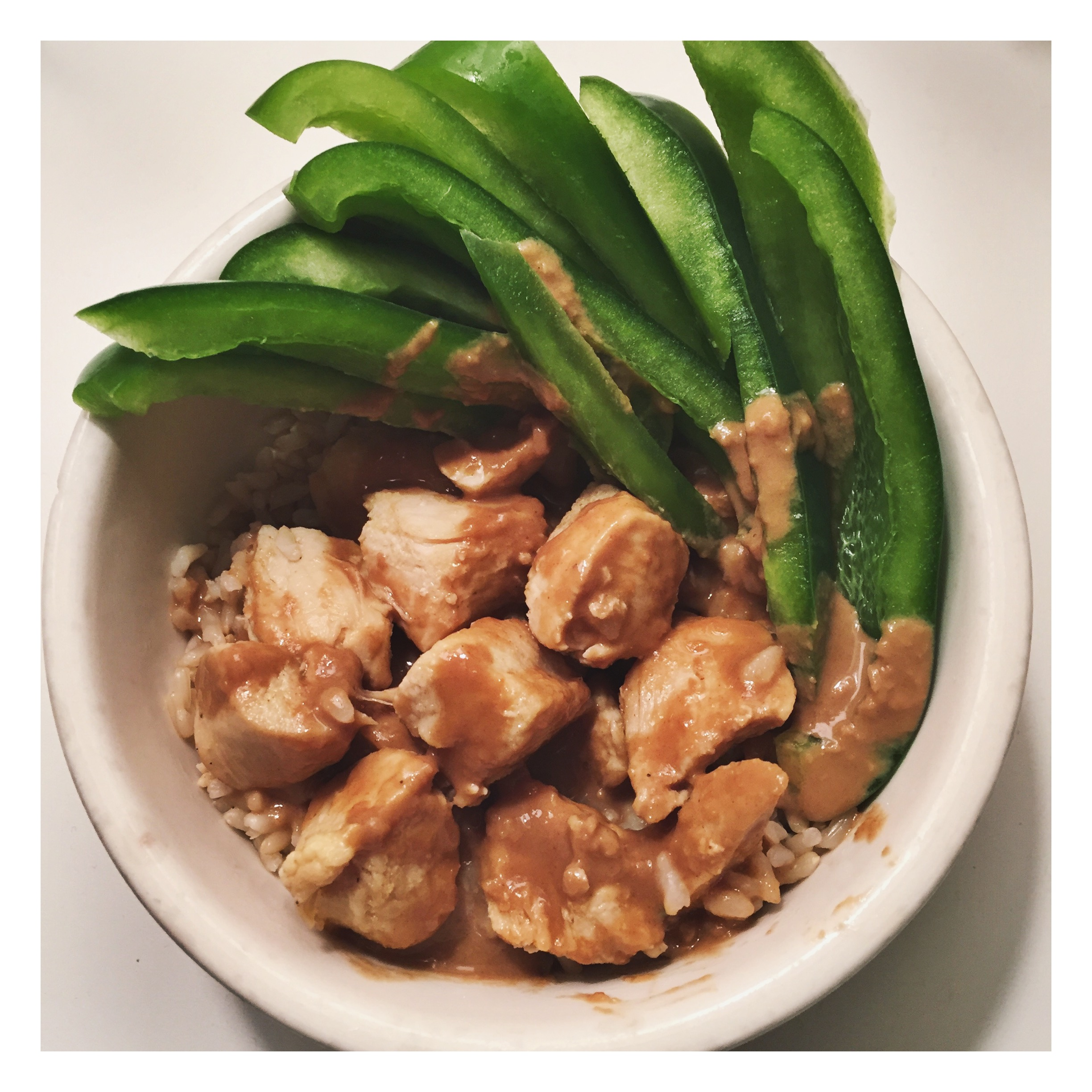 Chicken and Green Pepper For Lunch